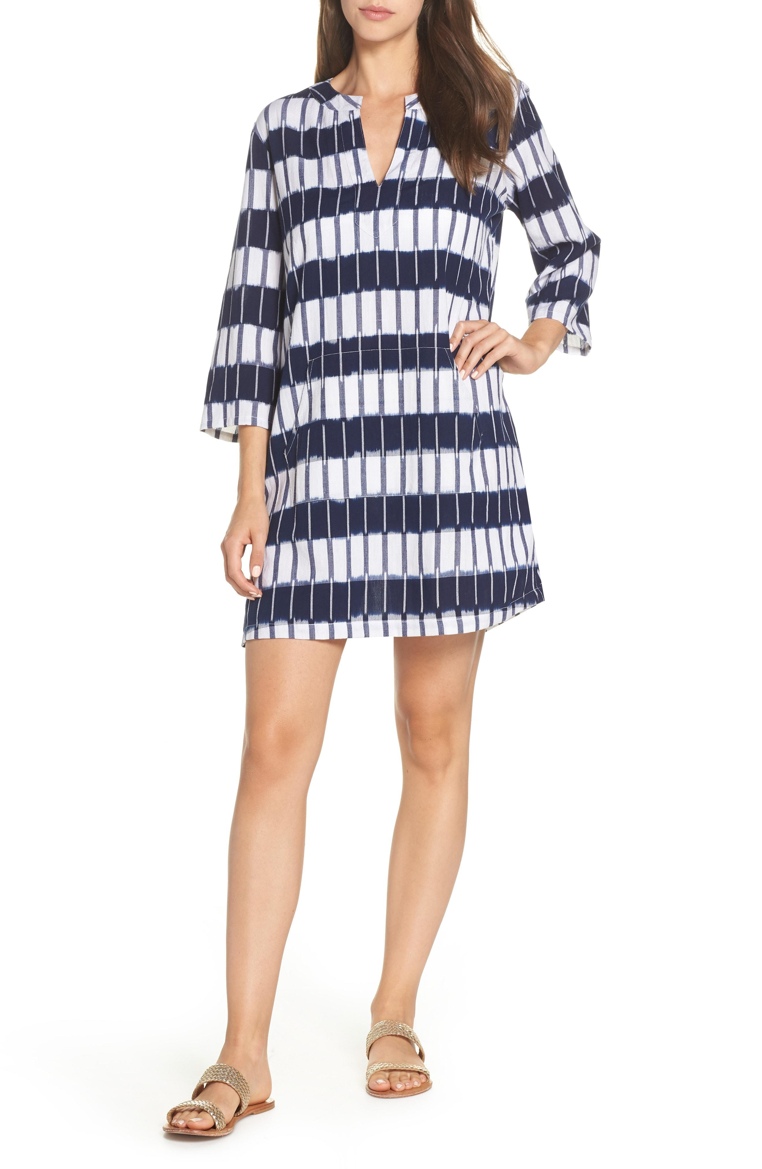 420dc959ca4 Lyst - Tommy Bahama Indigo Ikat Cover-up Tunic in Blue
