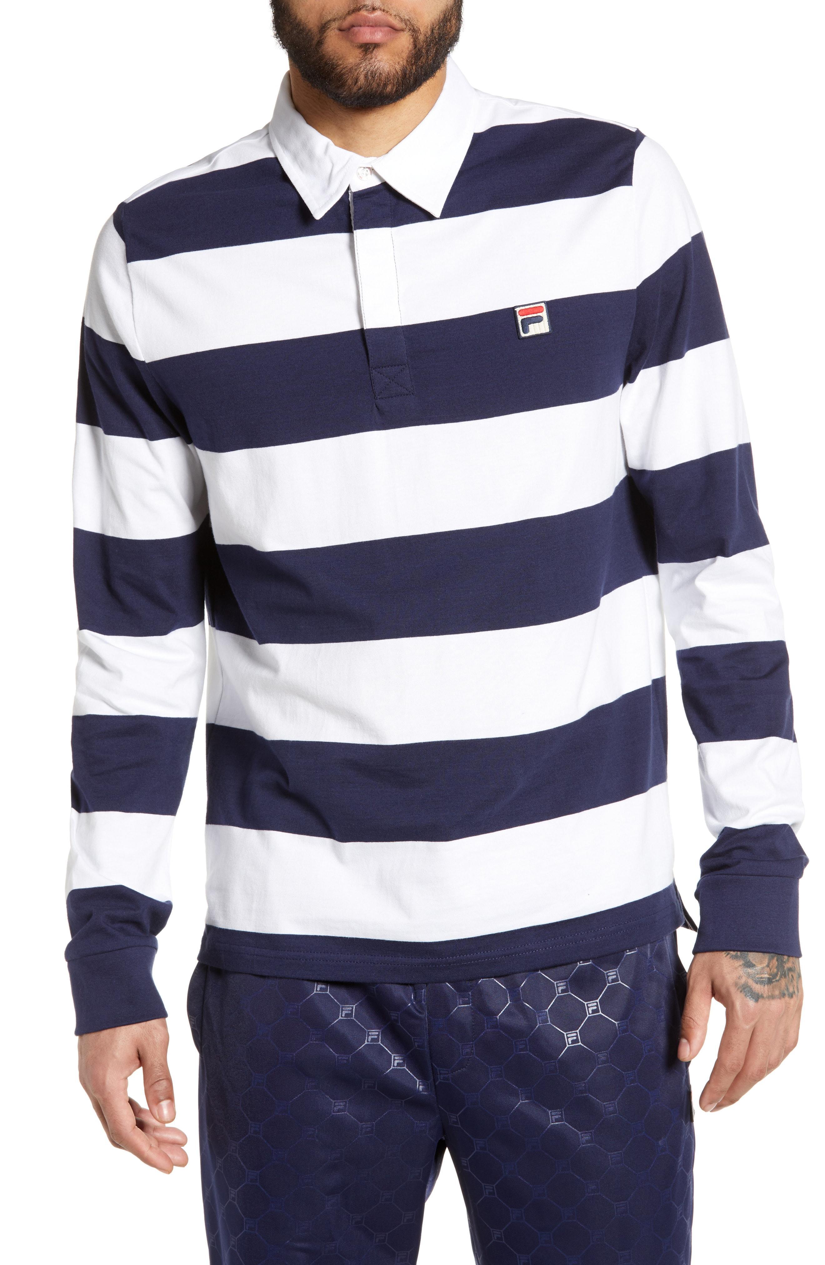 aac653d9 Lyst - Fila Oscar Rugby Shirt in Blue for Men