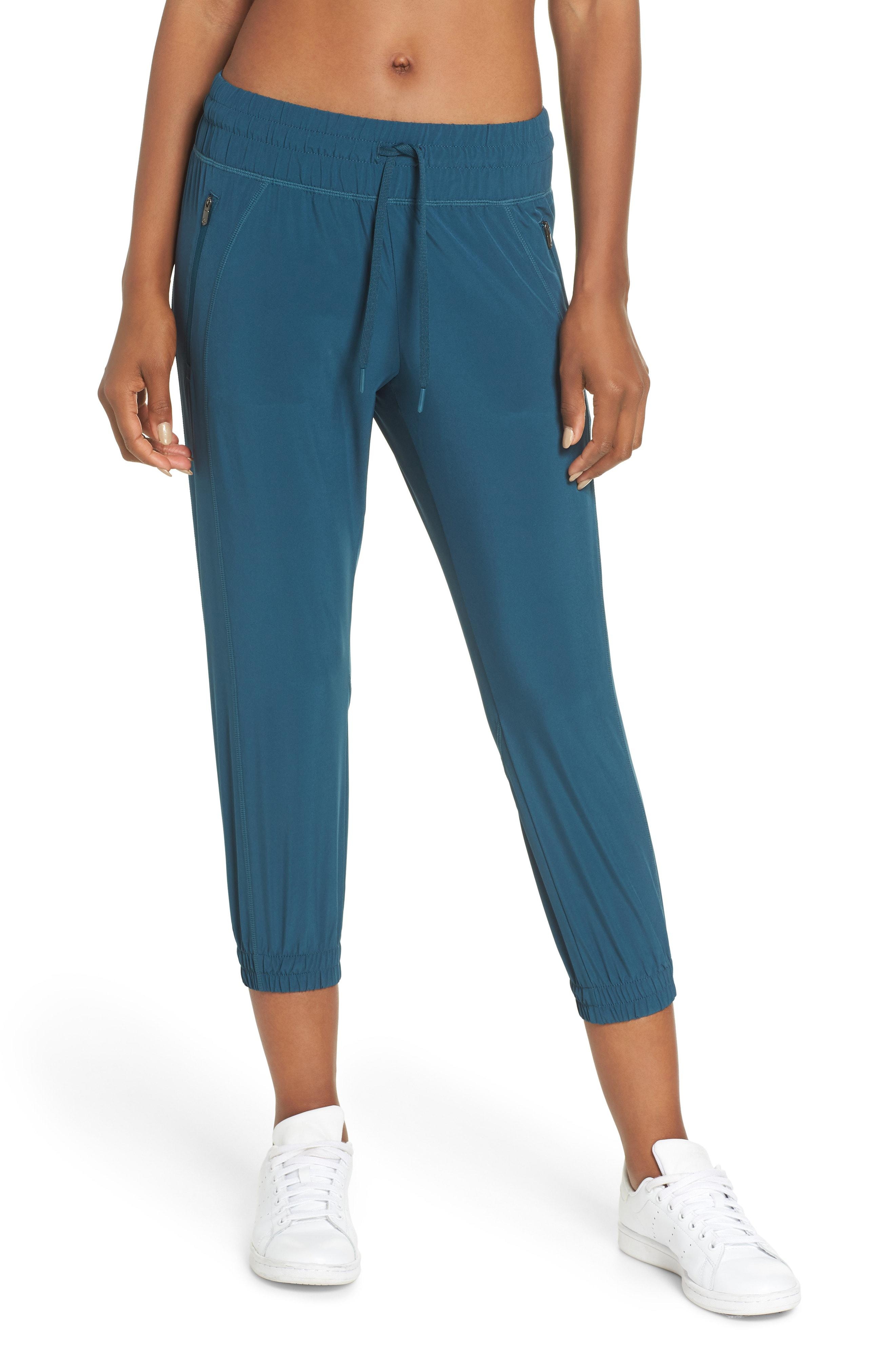 4dc4feca93 Lyst - Zella Out & About 2 Crop Pants in Blue