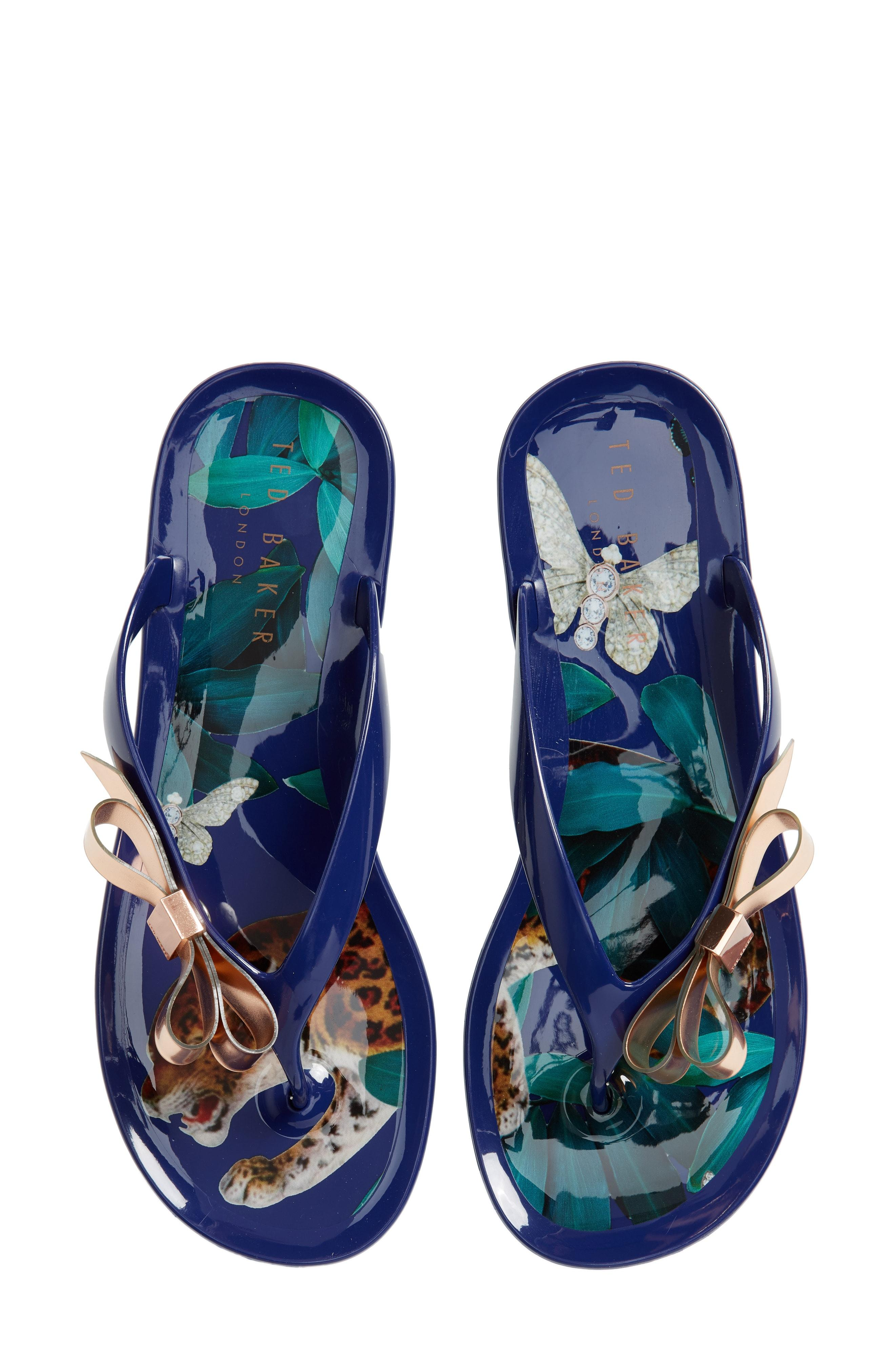 b71076ec5 Lyst - Ted Baker Suzzip Flip Flop in Blue