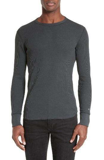Rag bone standard issue long sleeve thermal t shirt in for Mens black thermal t shirts