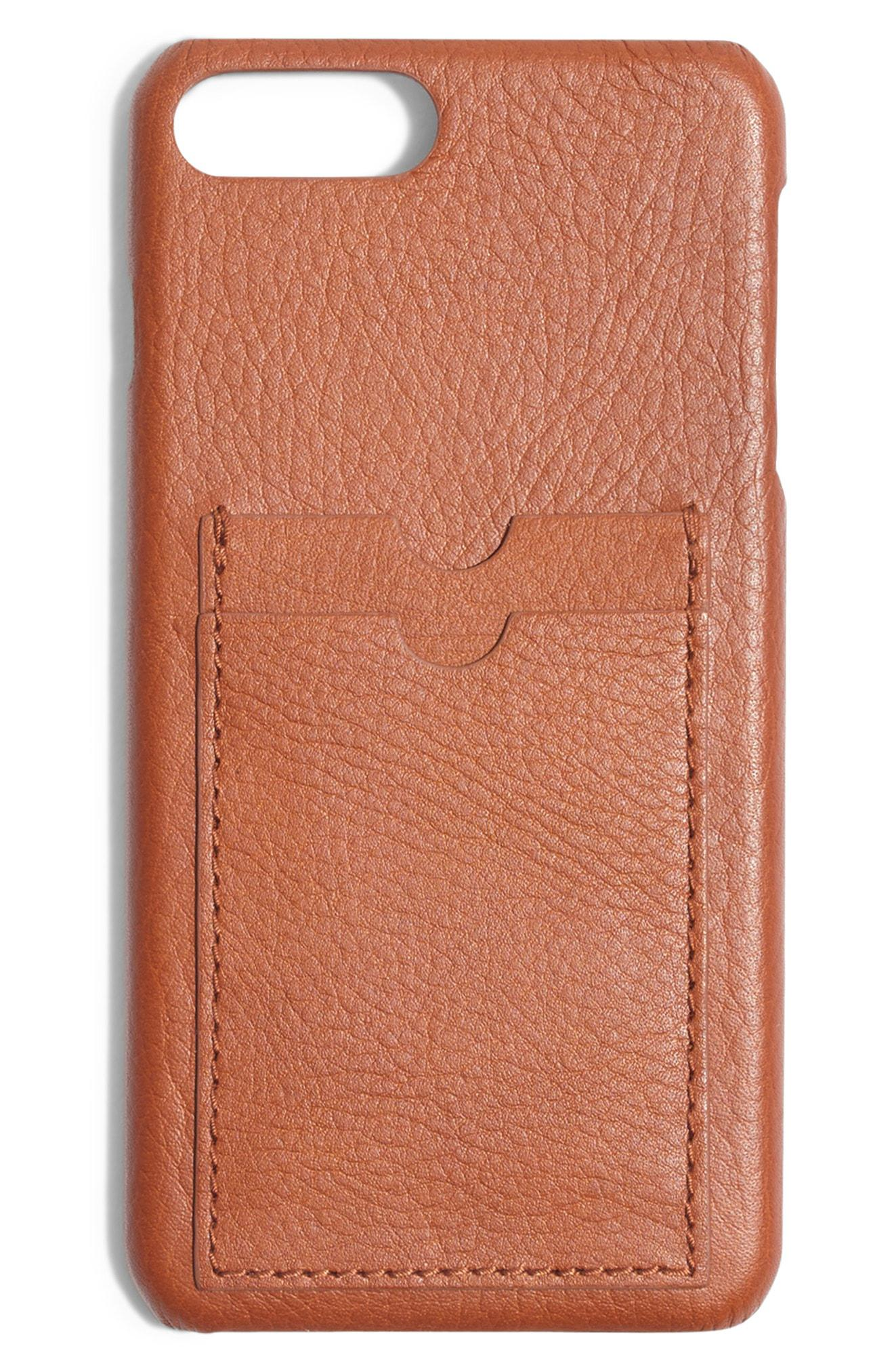 cheap for discount b1037 80fb2 Lyst - Madewell Card Slot Leather Iphone 6/7/8 Plus Case - Save 41%