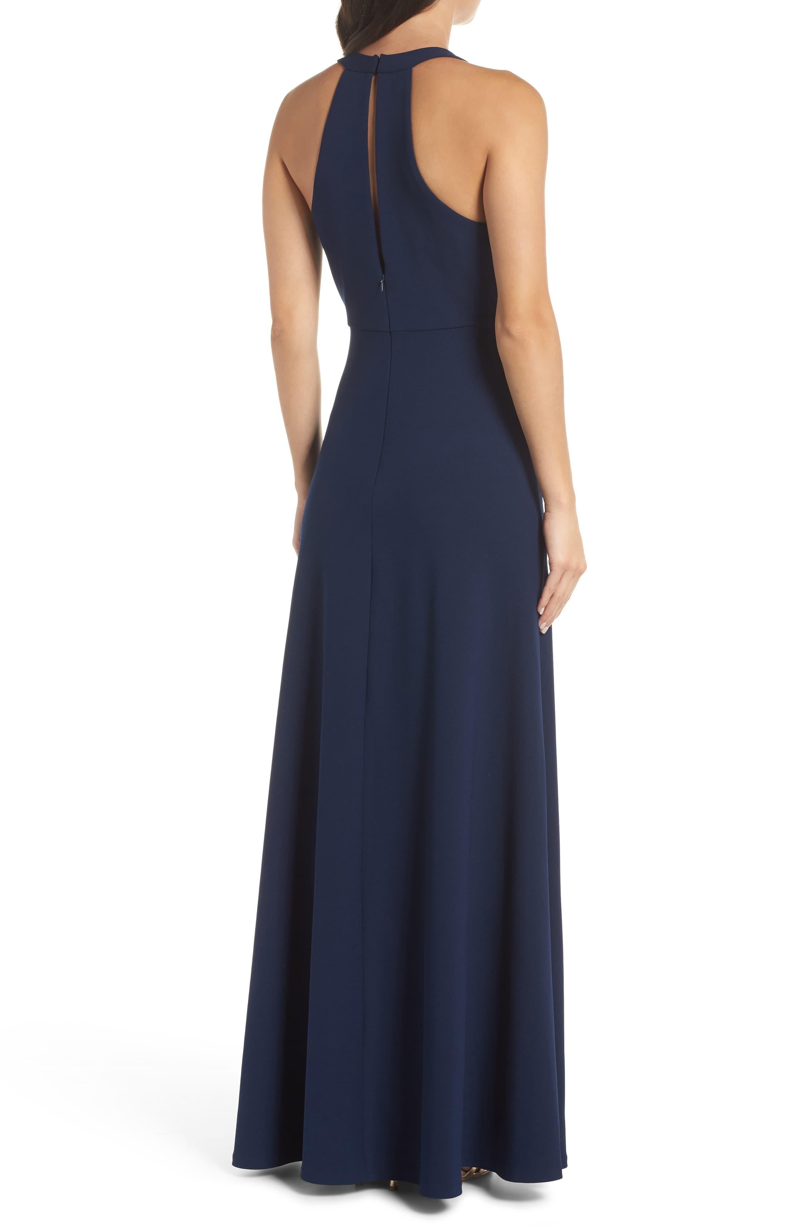 ce89fde013b1 Jenny Yoo Margot V-neck Knit Crepe Gown in Blue - Save 40% - Lyst
