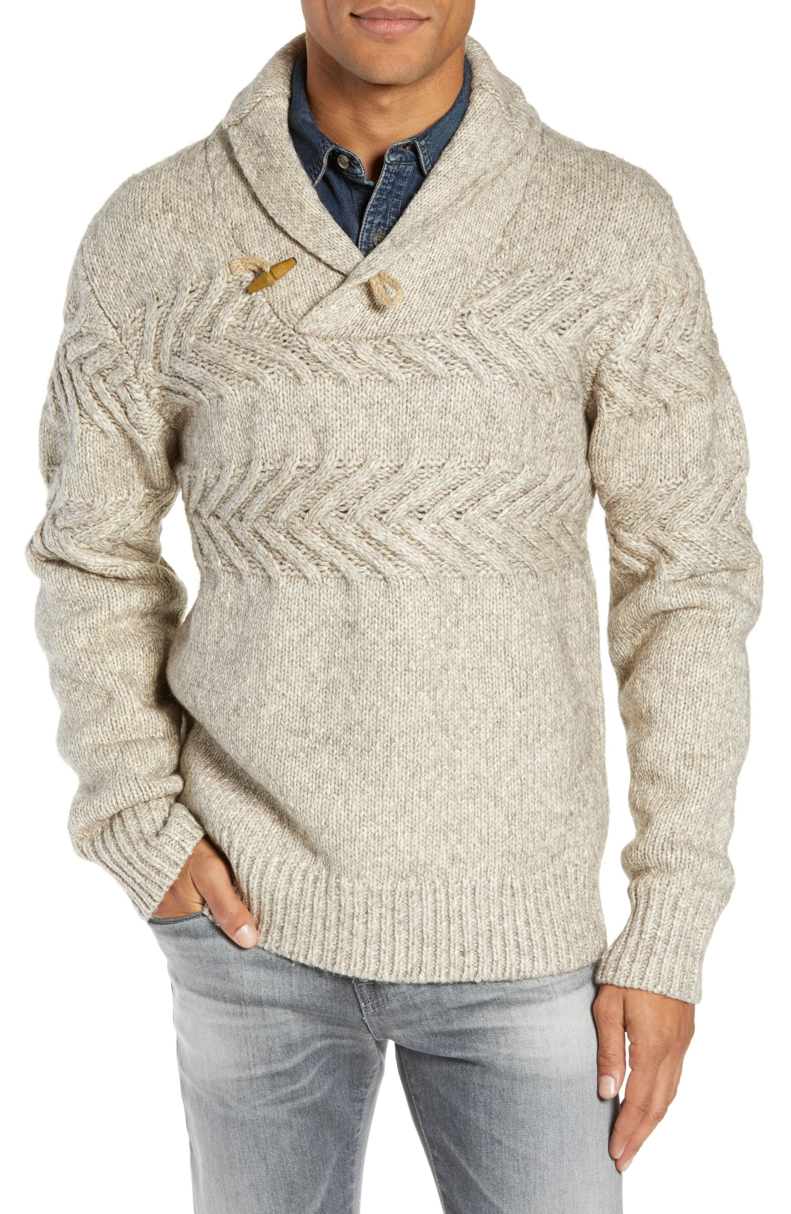 ca39c62ea5887 Lyst - Schott Nyc Heathered Shawl Collar Sweater in Natural for Men