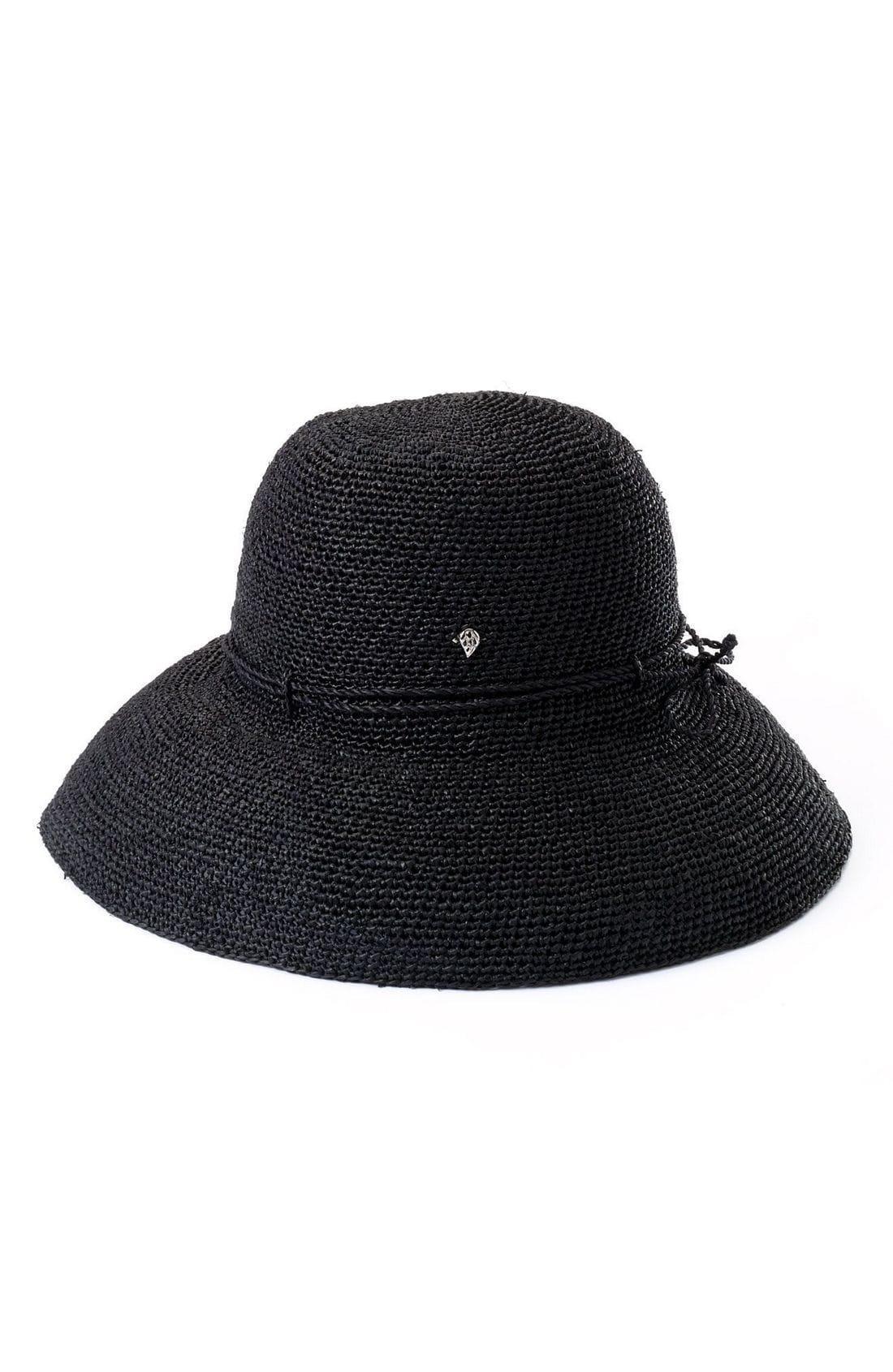 7b7114258fee3 Helen Kaminski  provence 12  Packable Raffia Hat in Gray - Lyst
