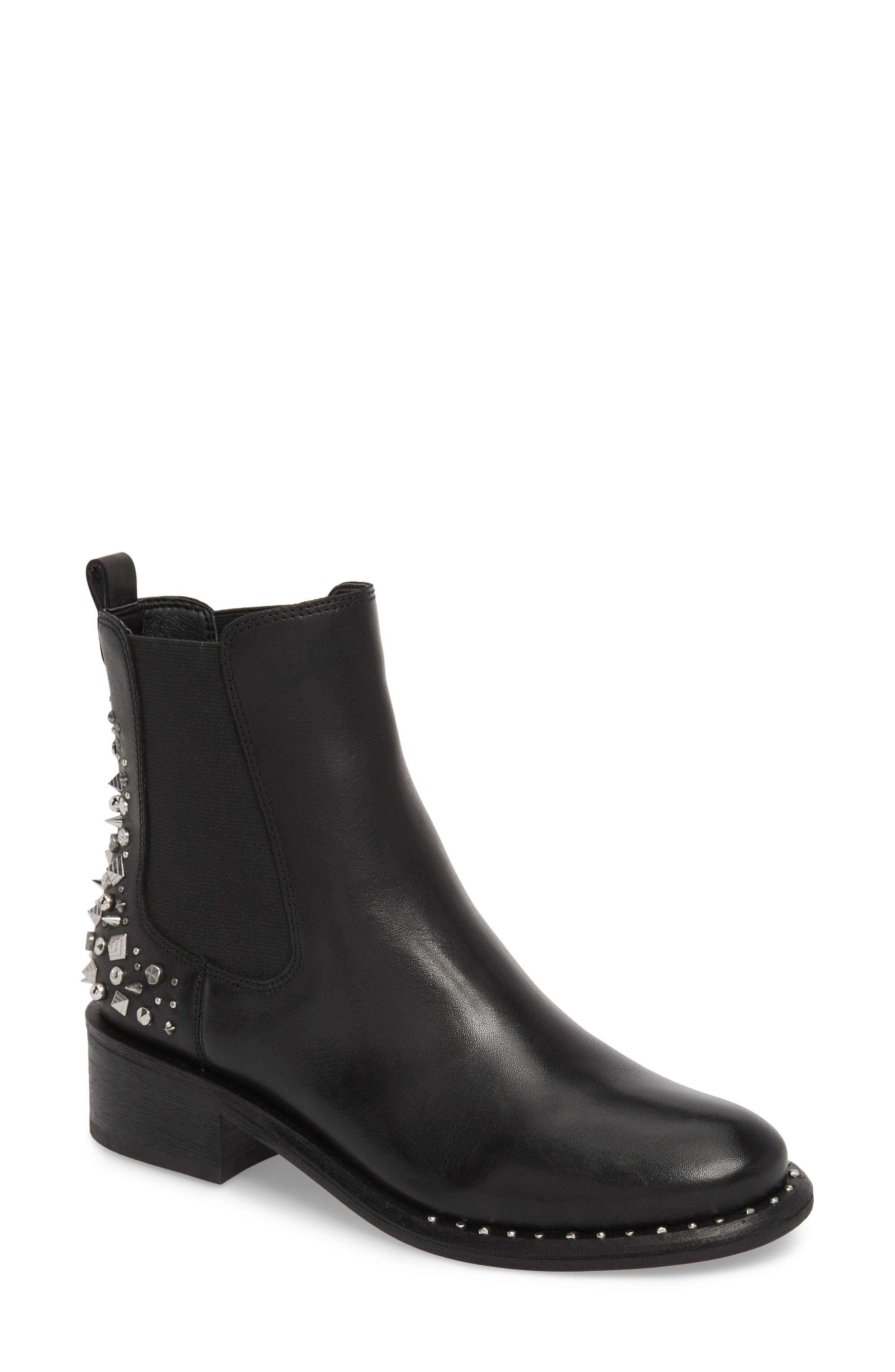 d38aed4fee8 Lyst - Sam Edelman Dover Embellished Boot in Black