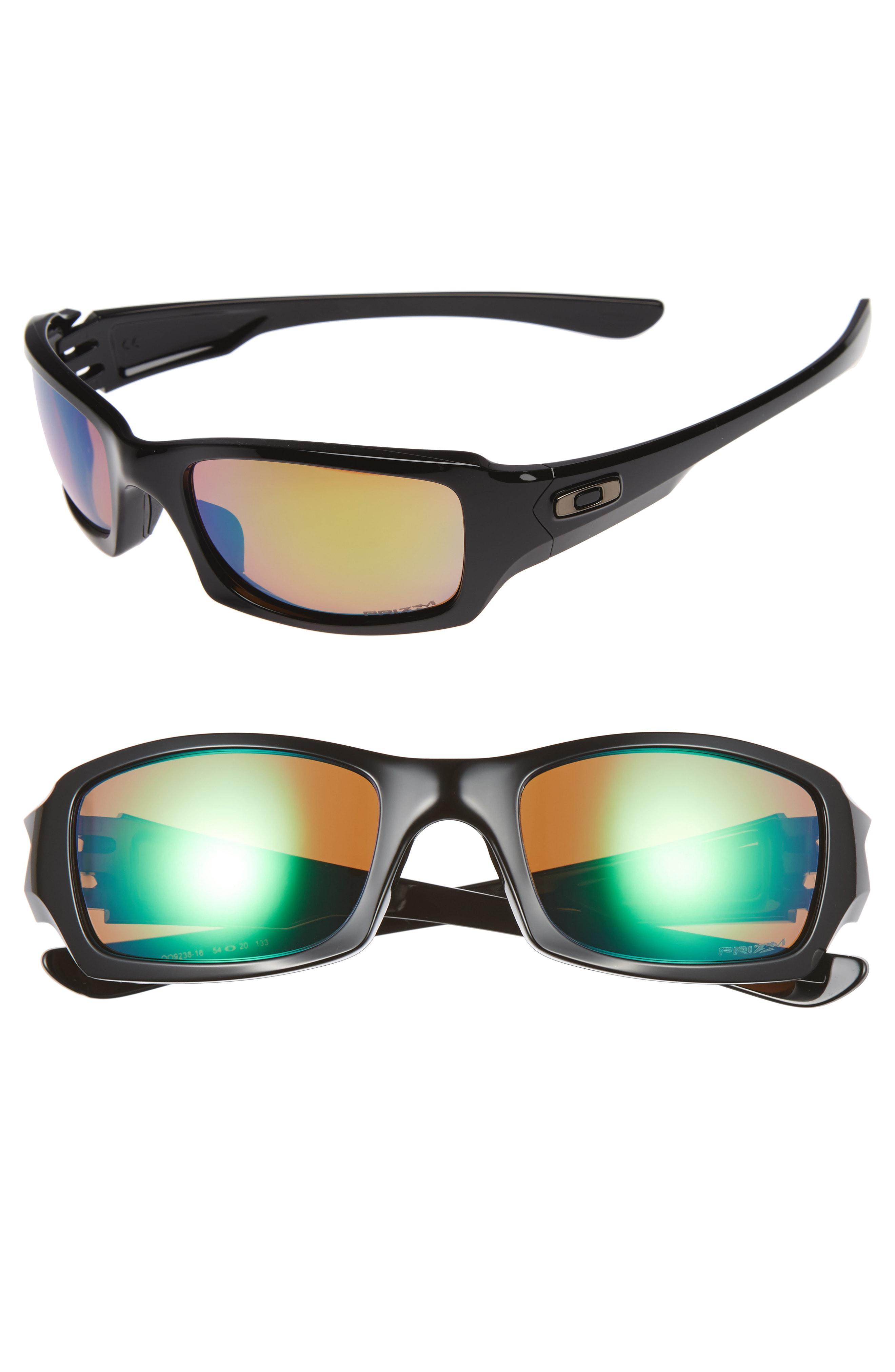 e3c594bb56 Lyst - Oakley Fives Squared H2o 54mm Polarized Sunglasses in Black ...