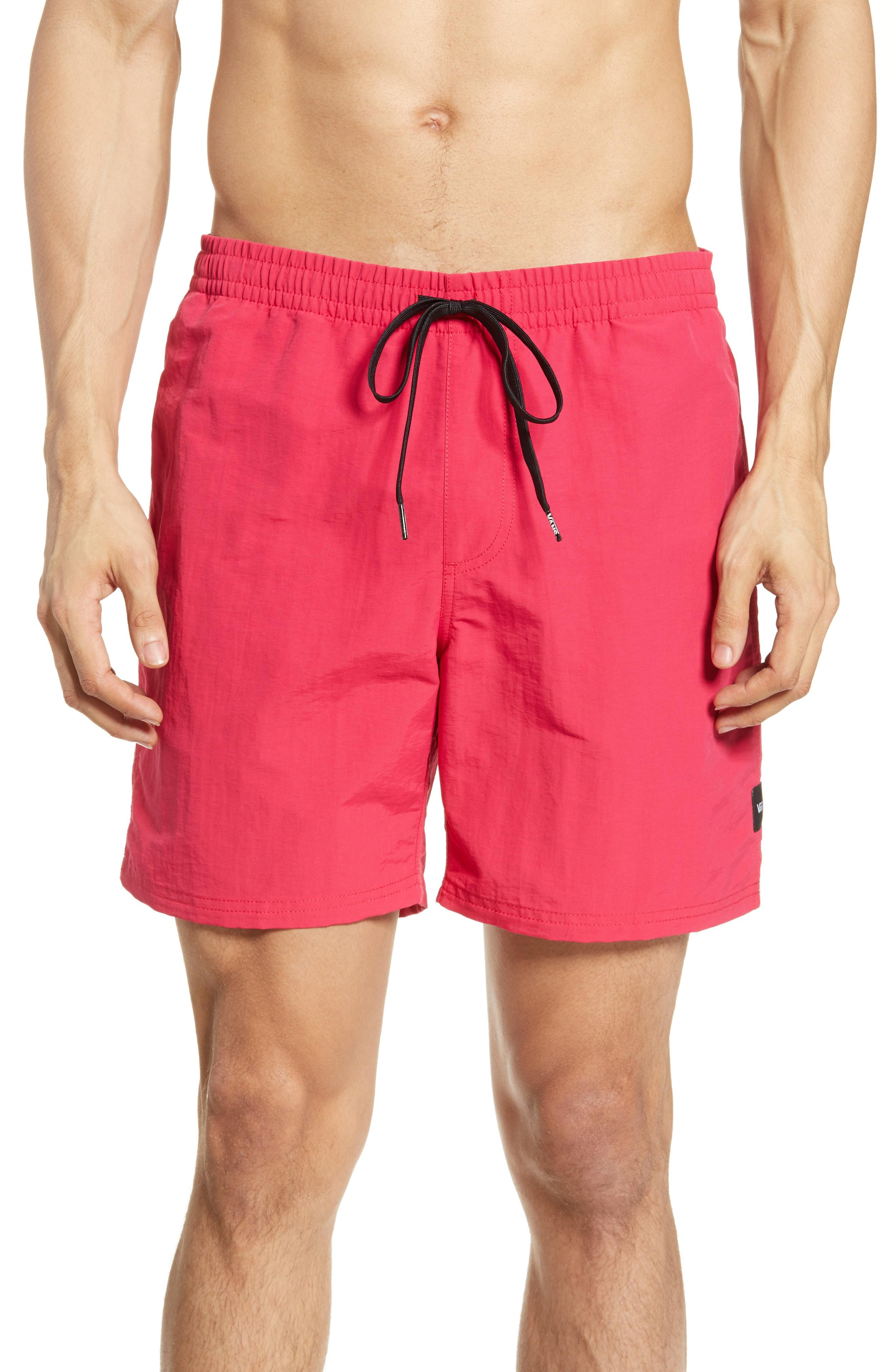 b776f7e4be79a Lyst - Vans Primary Volley Shorts in Pink for Men