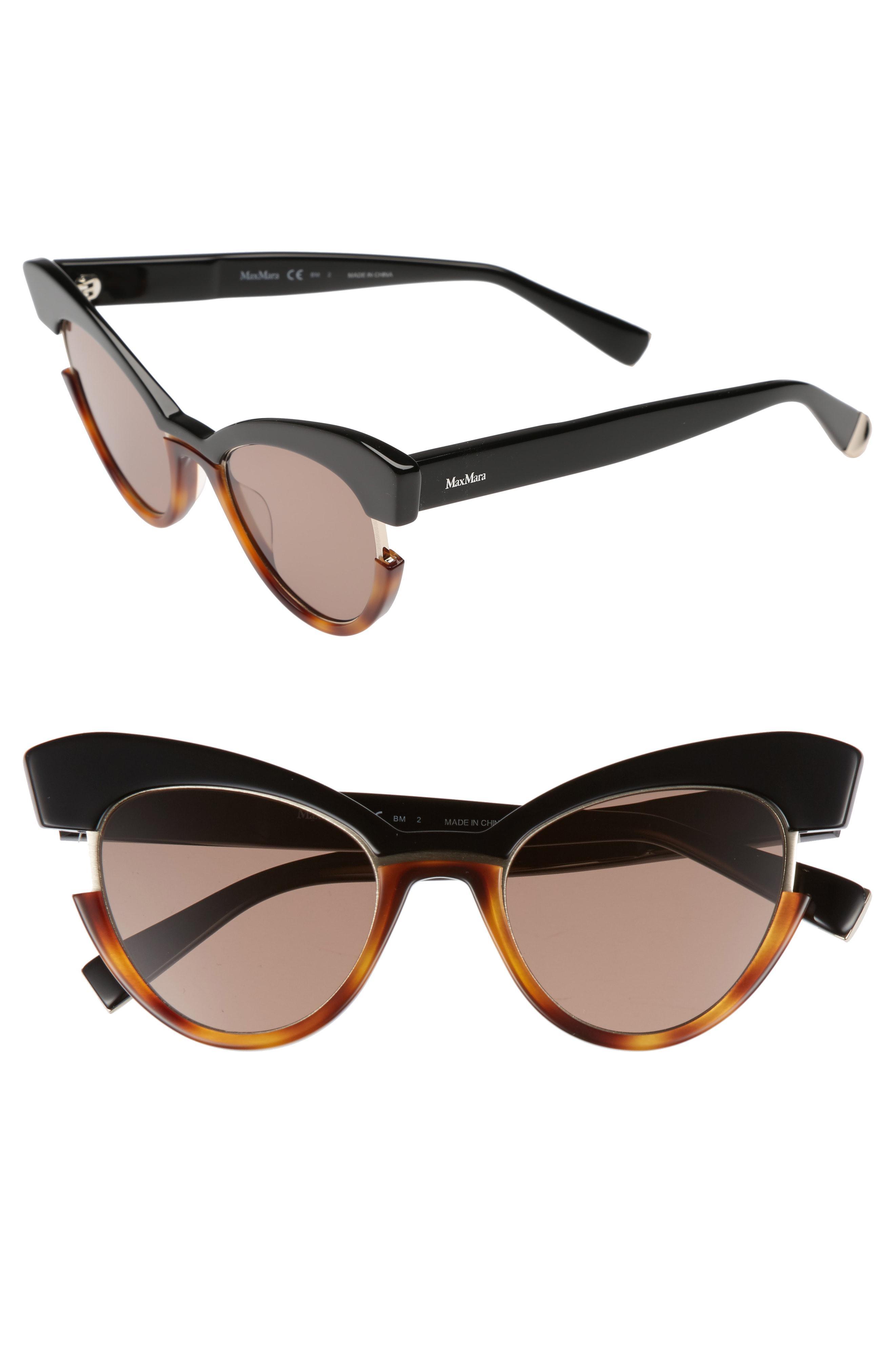 93e3db4677b Lyst - Max Mara 49mm Gradient Lens Cat Eye Sunglasses - in Blue