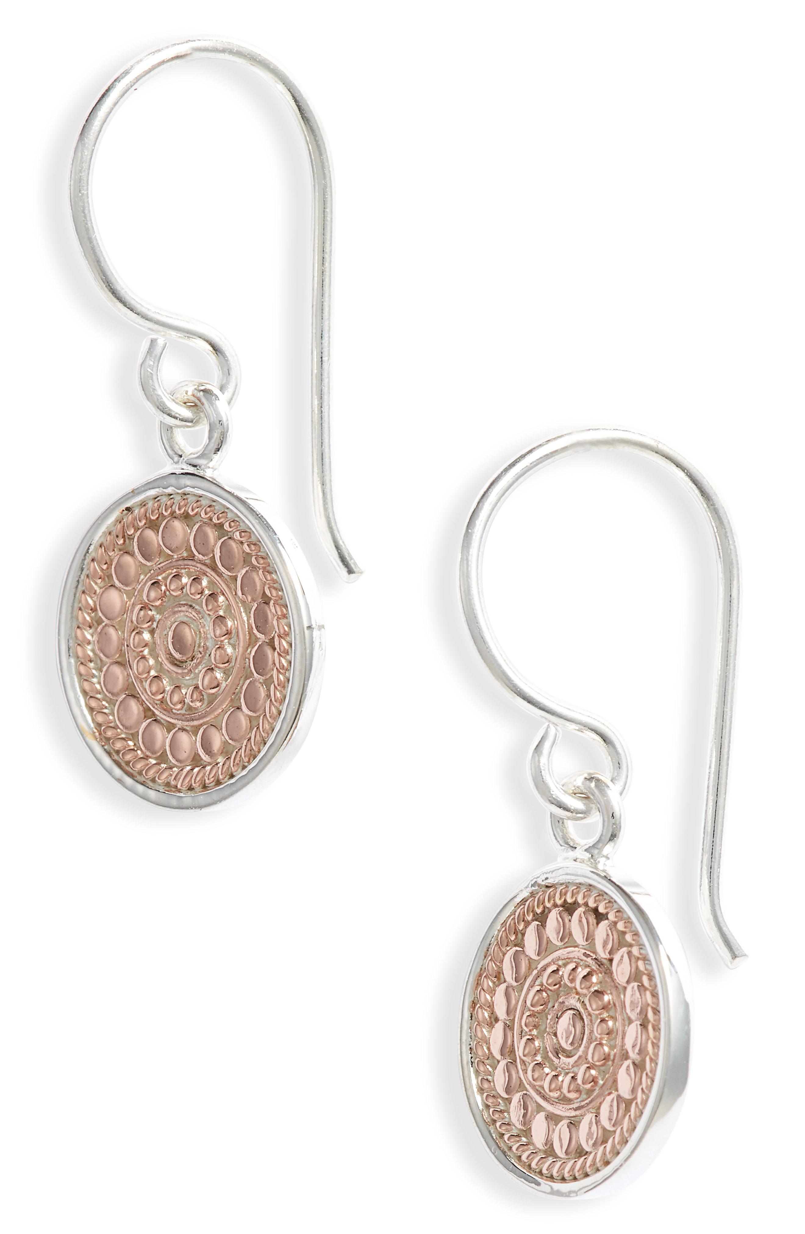 9db566fe3 Lyst - Anna Beck Circle Drop Earrings in Metallic