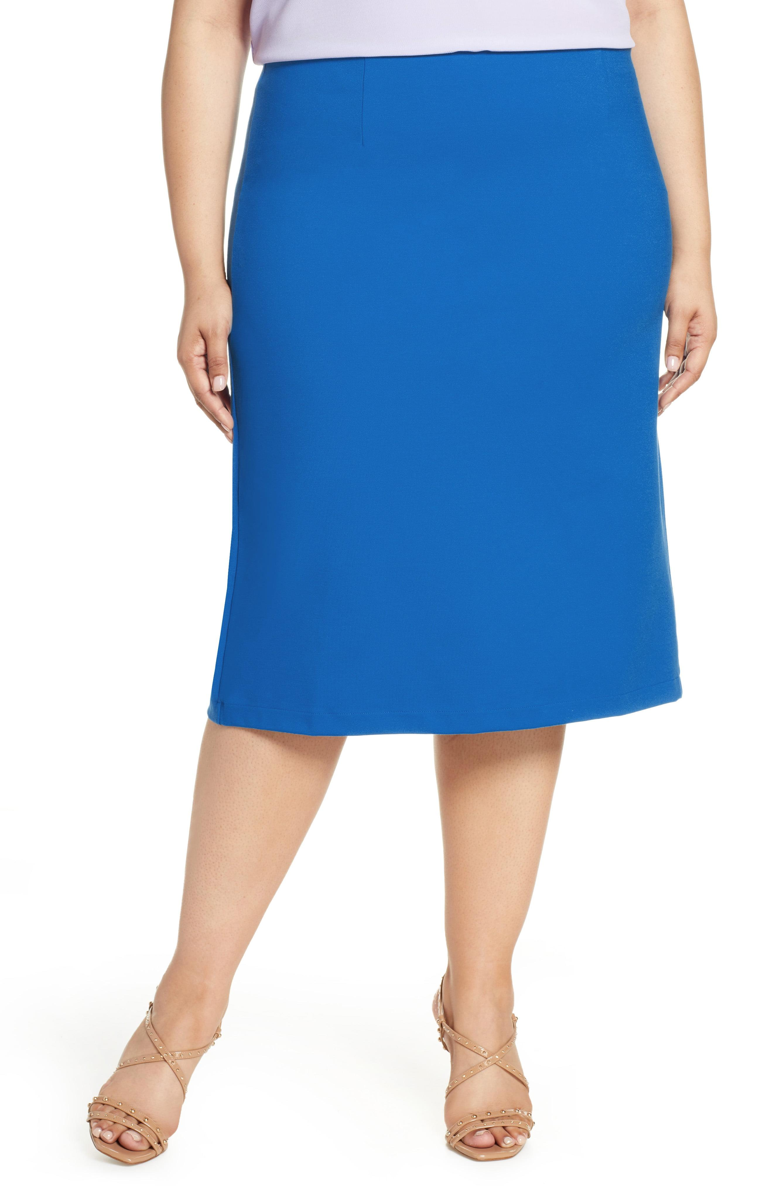 6ff25d185 Lyst - Halogen Halogen Ponte Pencil Skirt in Blue