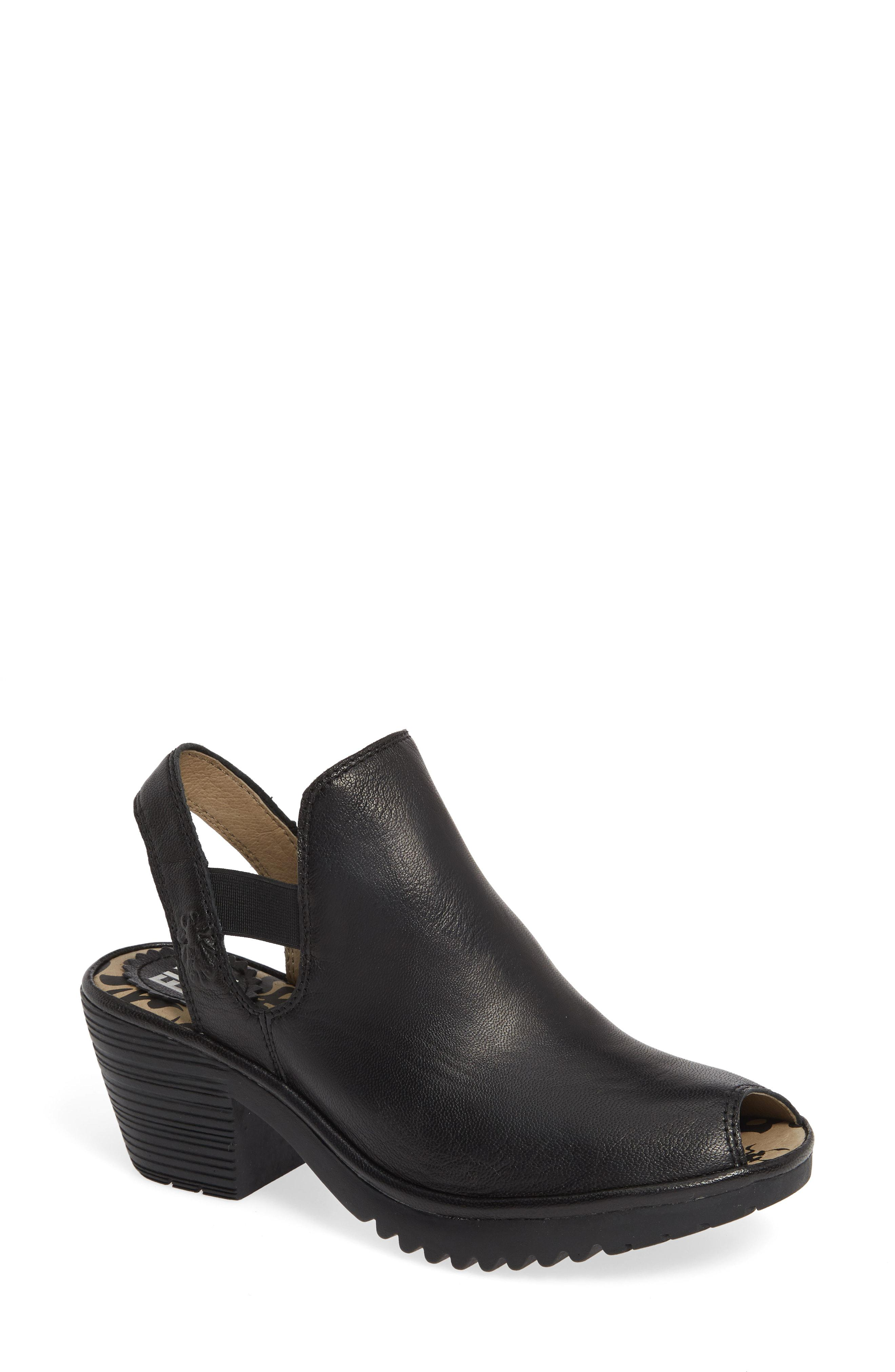 Lyst - Fly London Wari Slingback Bootie in Black f0c82b742fd8