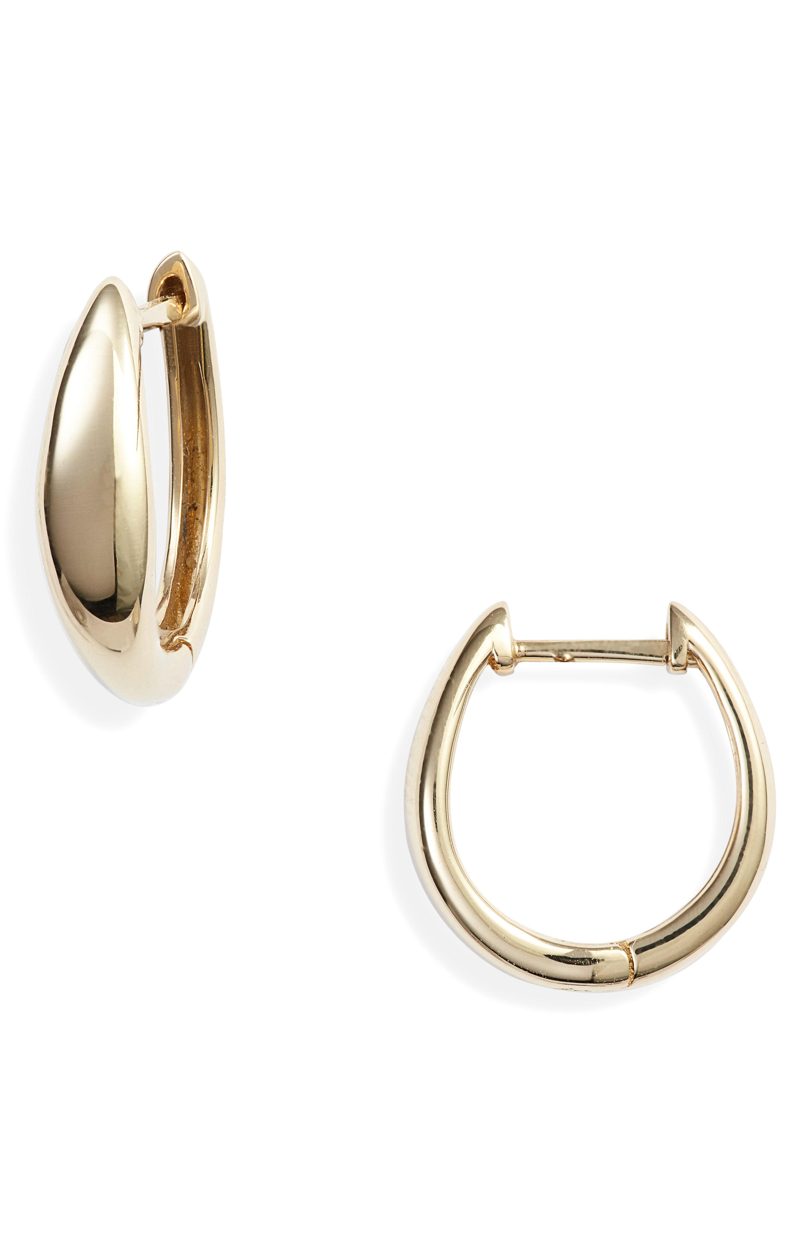 Bony Levy Women S Metallic 14k Gold Hoop Earrings Nordstrom
