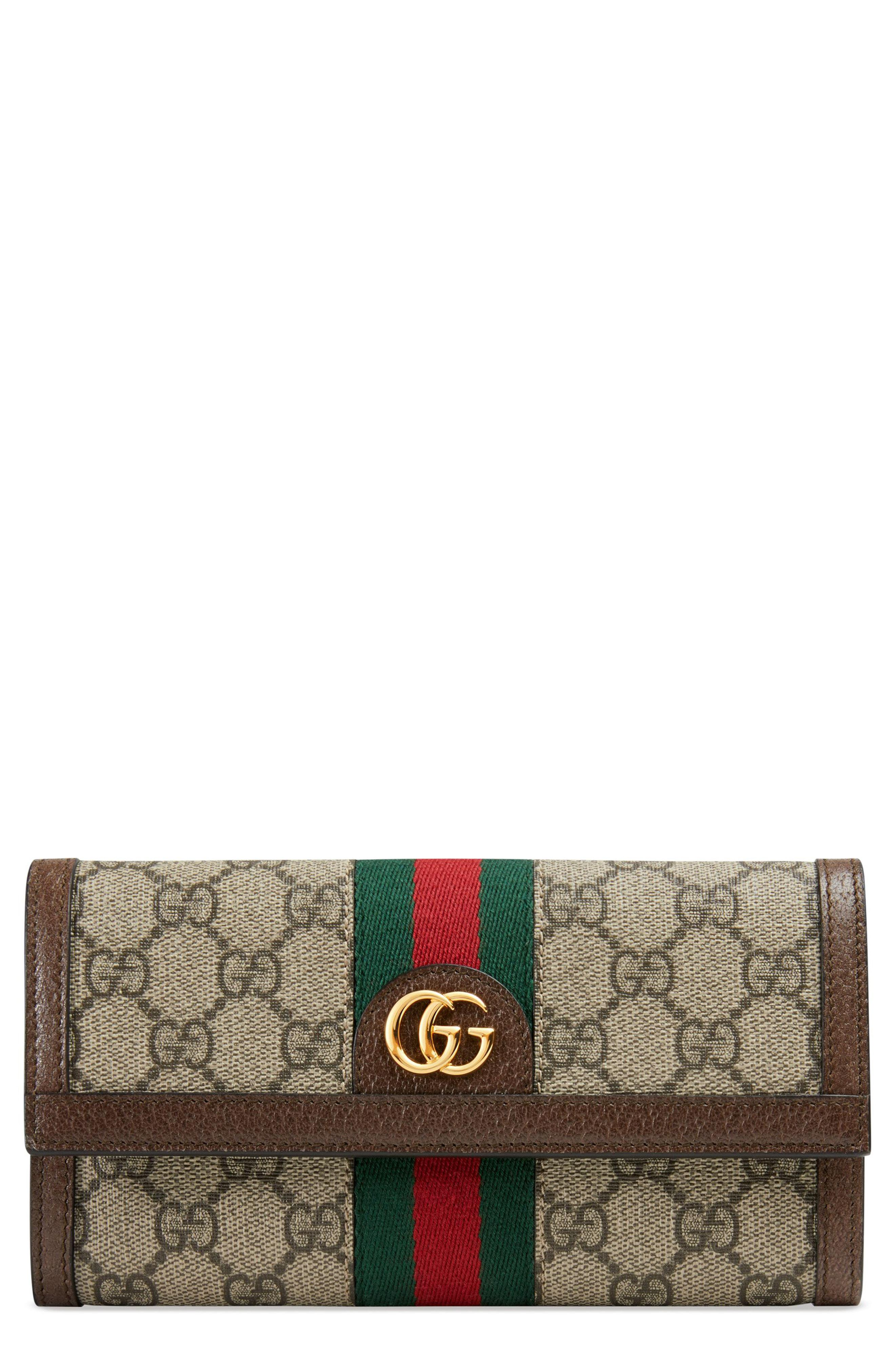 fda987b689 Lyst - Gucci Ophidia Gg Supreme Continental Wallet in Natural