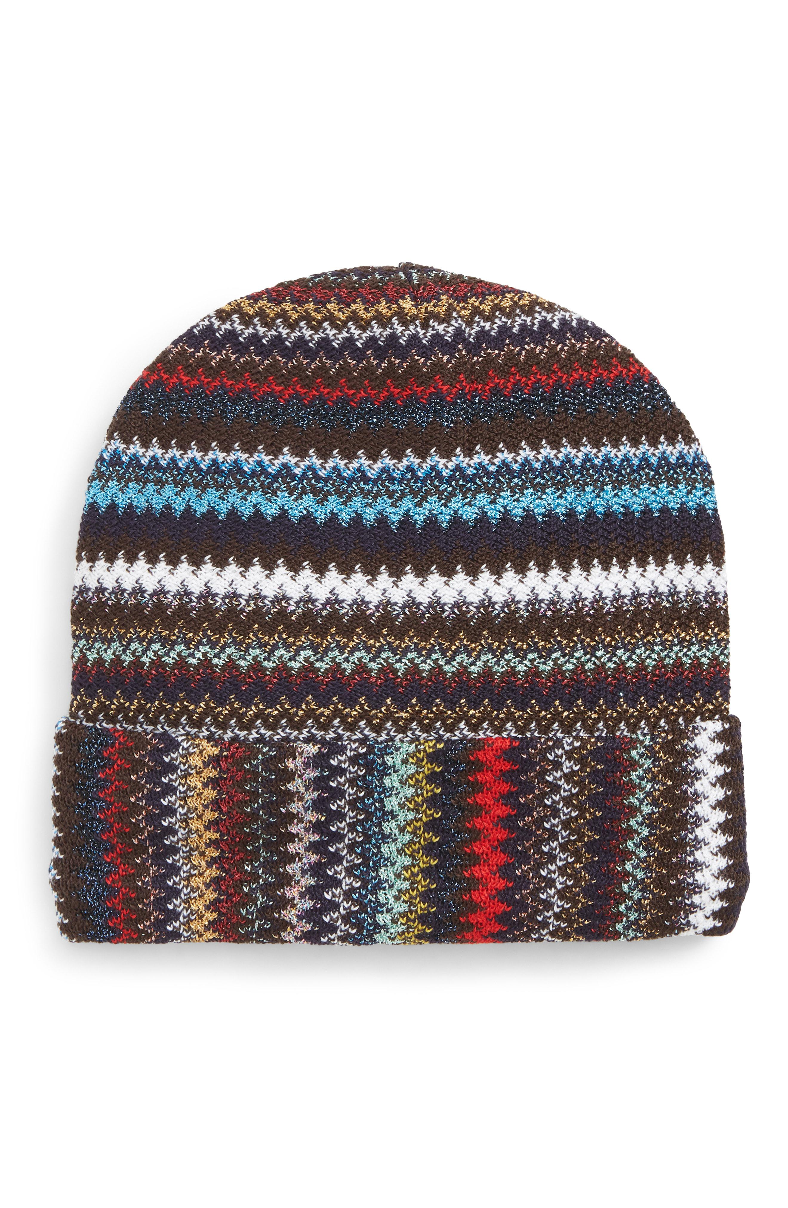 Lyst - Missoni Knitted Beanie Hat in Black 3520902fd595