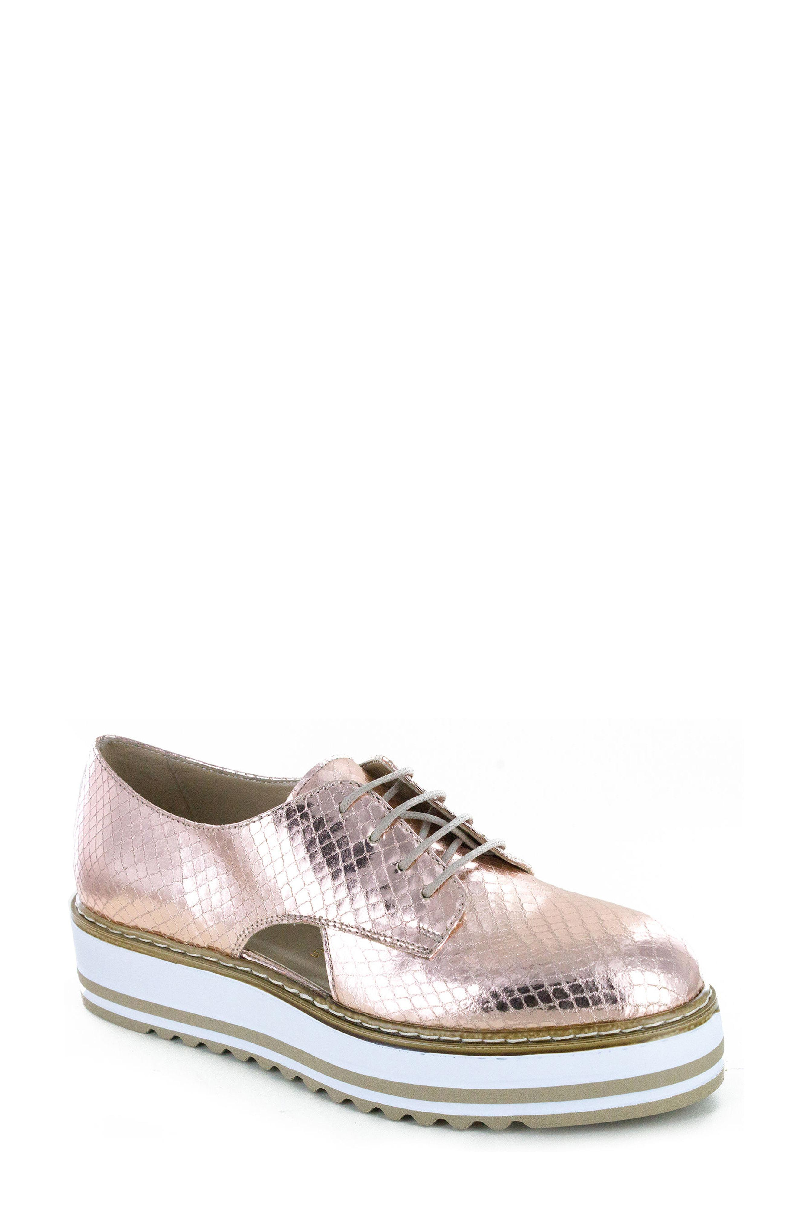 db77e842c66 Lyst - Summit By White Mountain  brody  Platform Oxford in Pink