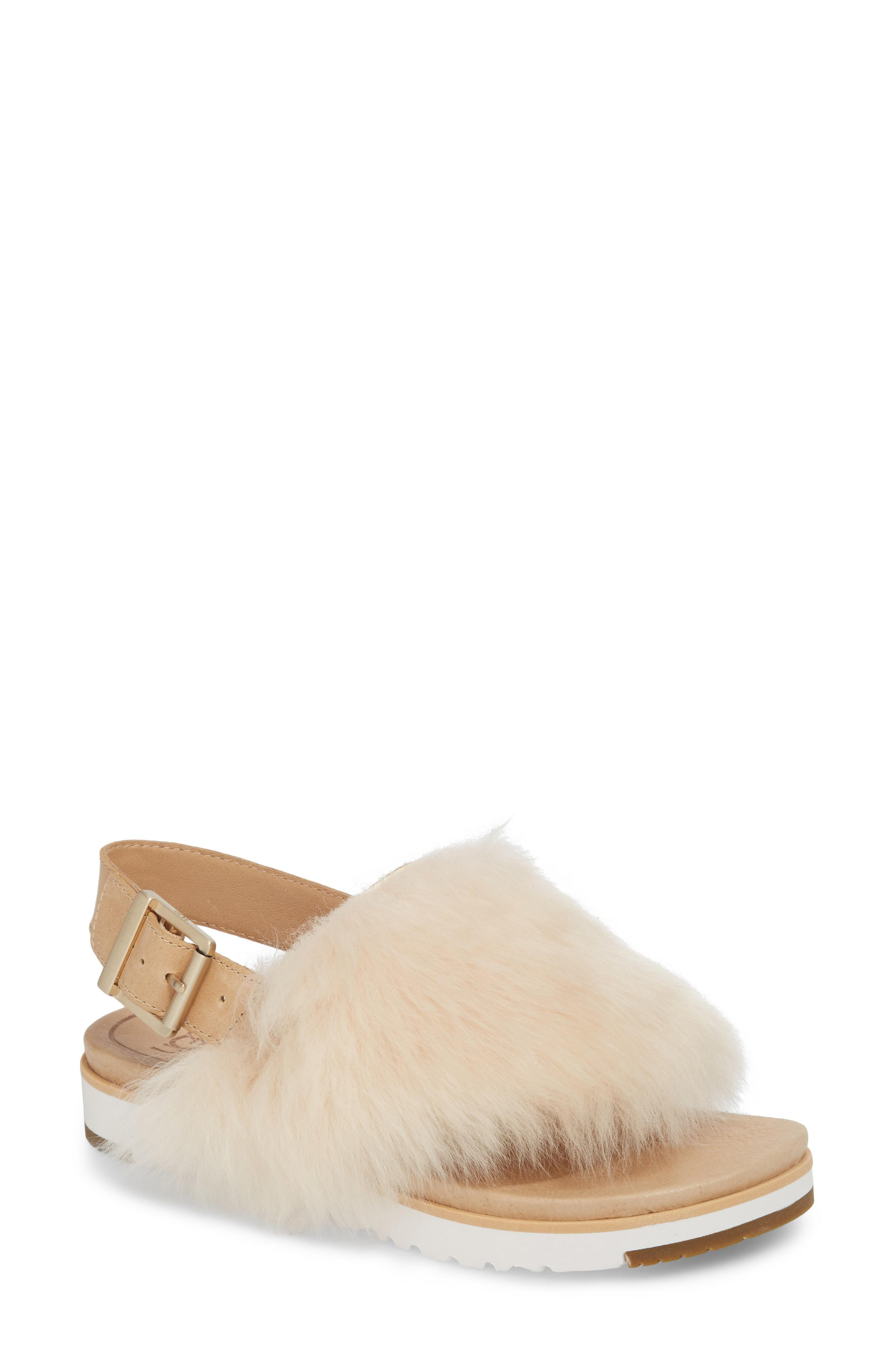 015a65defd8e Lyst - Ugg Ugg Holly Genuine Shearling Sandal - Save 1.2422360248447148%