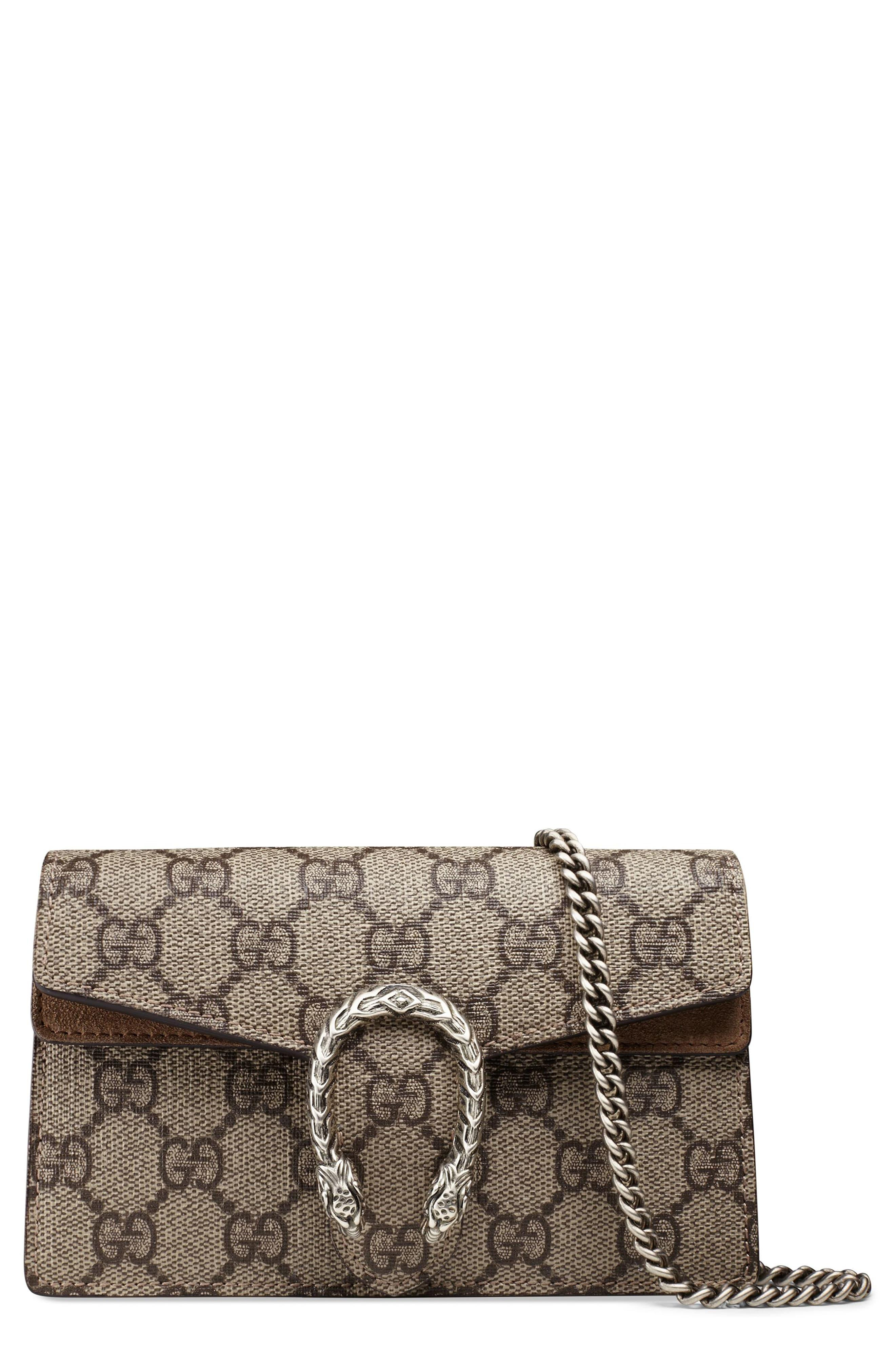 908e23eae9 Gucci - Natural Super Mini Dionysus Gg Supreme Canvas & Suede Shoulder Bag  - Lyst. View fullscreen