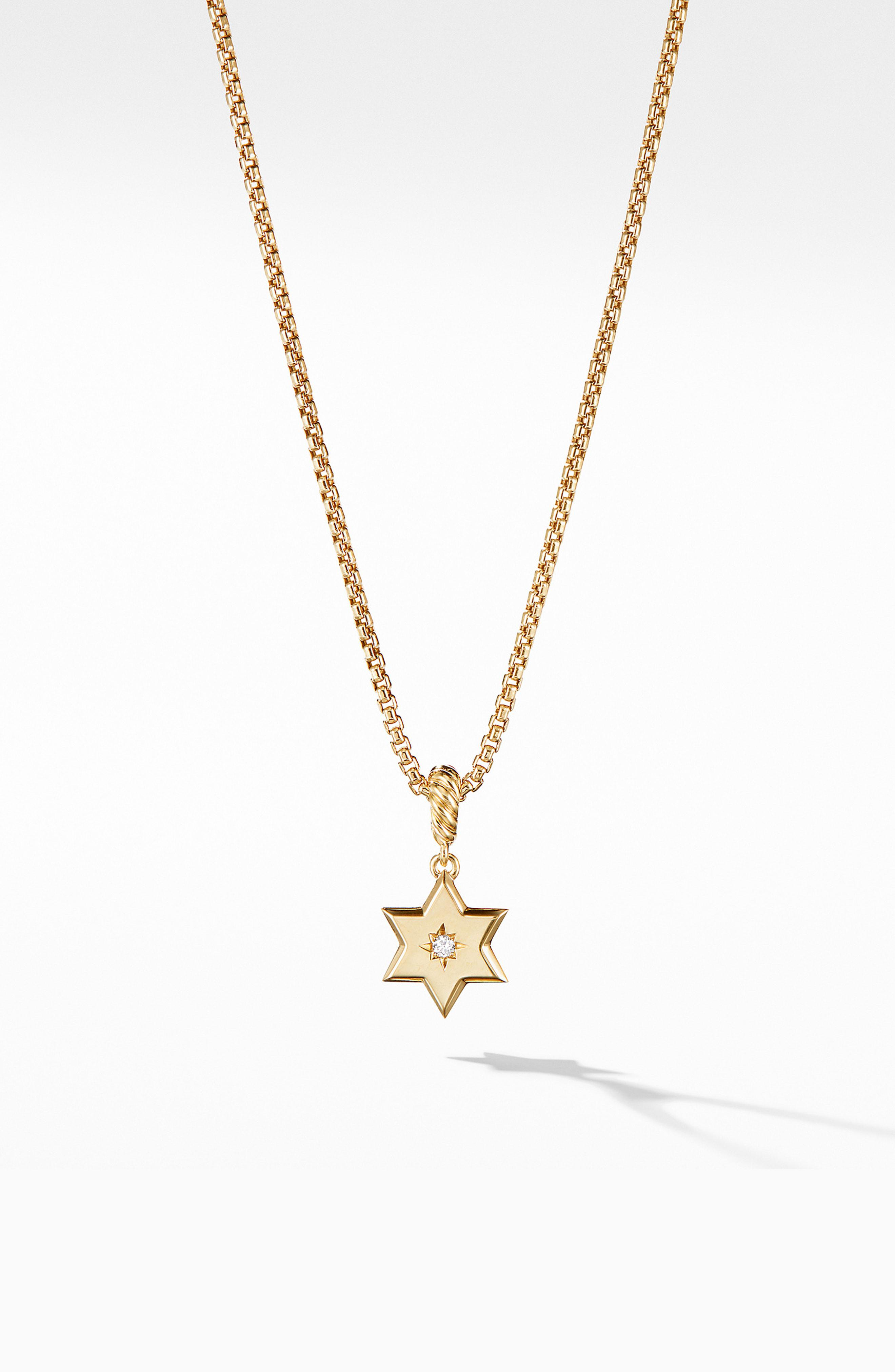 0c974f826b92 David Yurman. Women's Metallic Star Of David Pendant In 18k Yellow Gold ...
