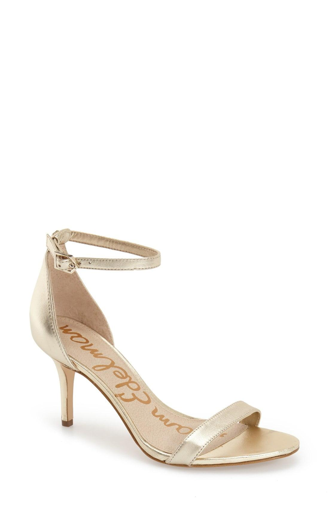be8c80fbb Sam Edelman - Natural  patti  Ankle Strap Sandal - Lyst. View fullscreen