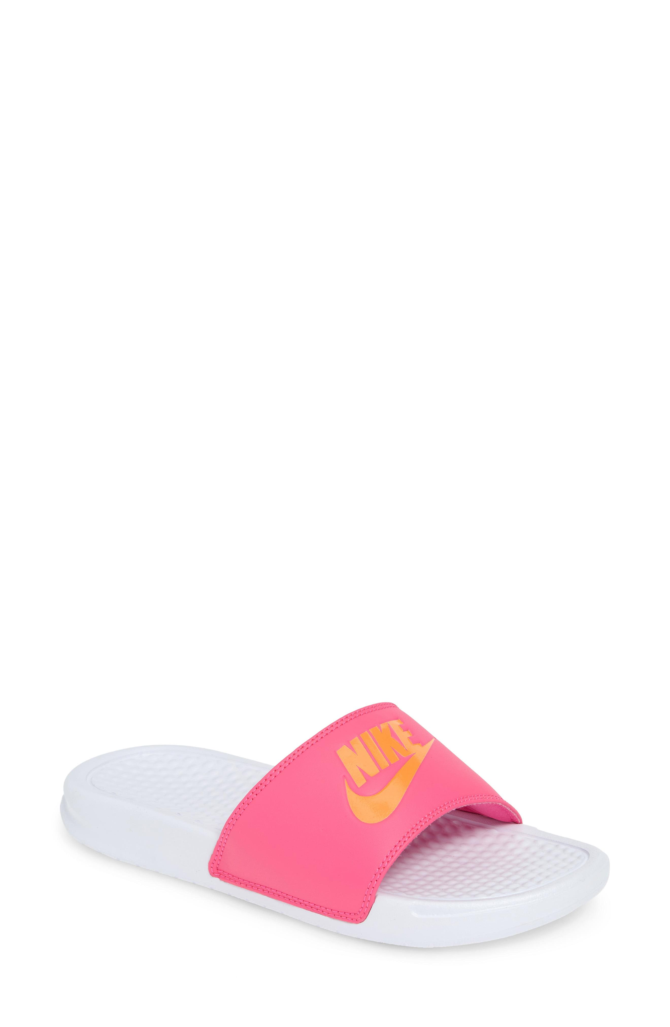 a9a8e6133eb Lyst - Nike Benassi Jdi Slide Sandal in Orange