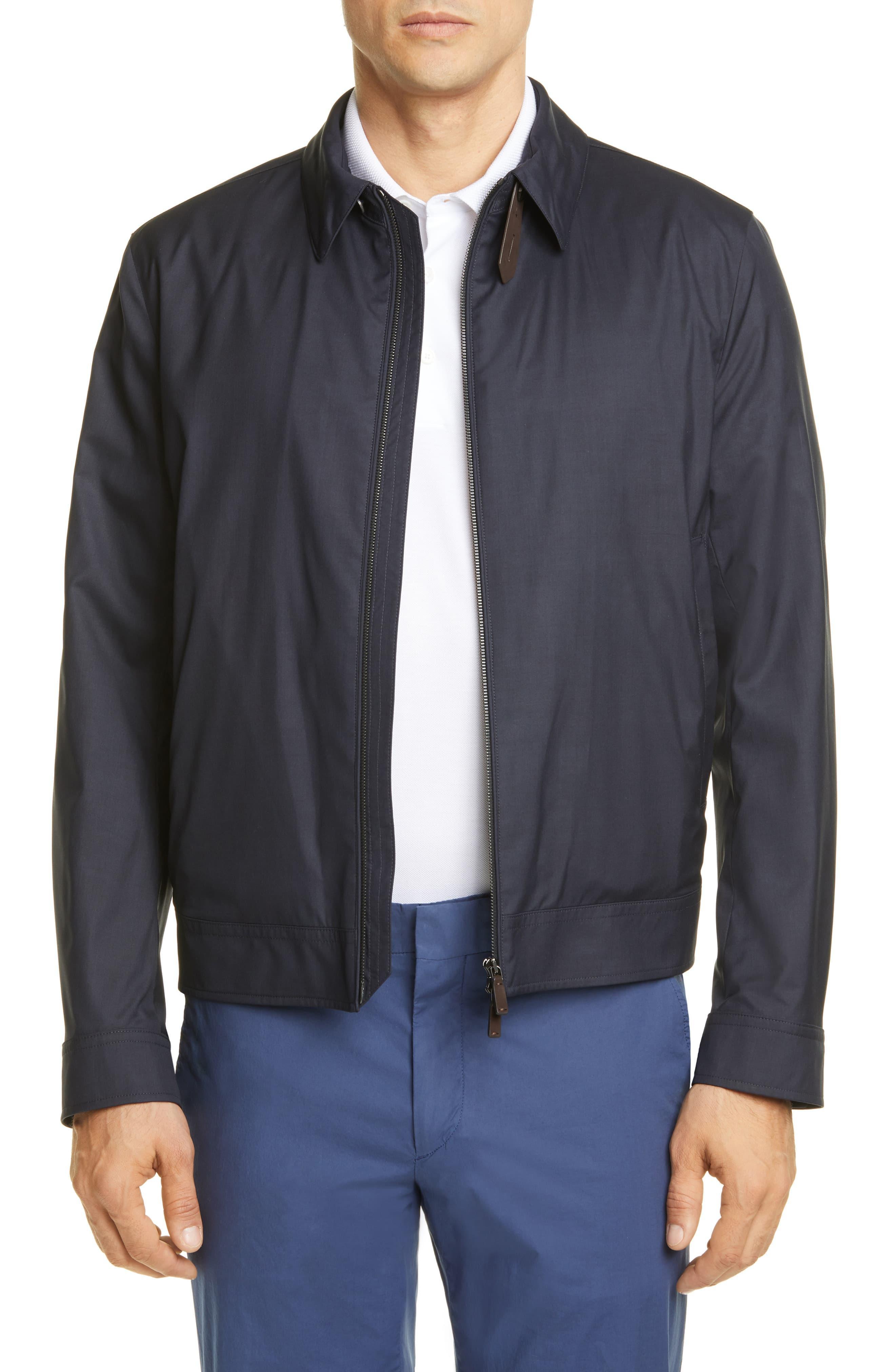 bb864c96 Ermenegildo Zegna Leggerissimo Wool & Silk Bomber Jacket in Blue for ...