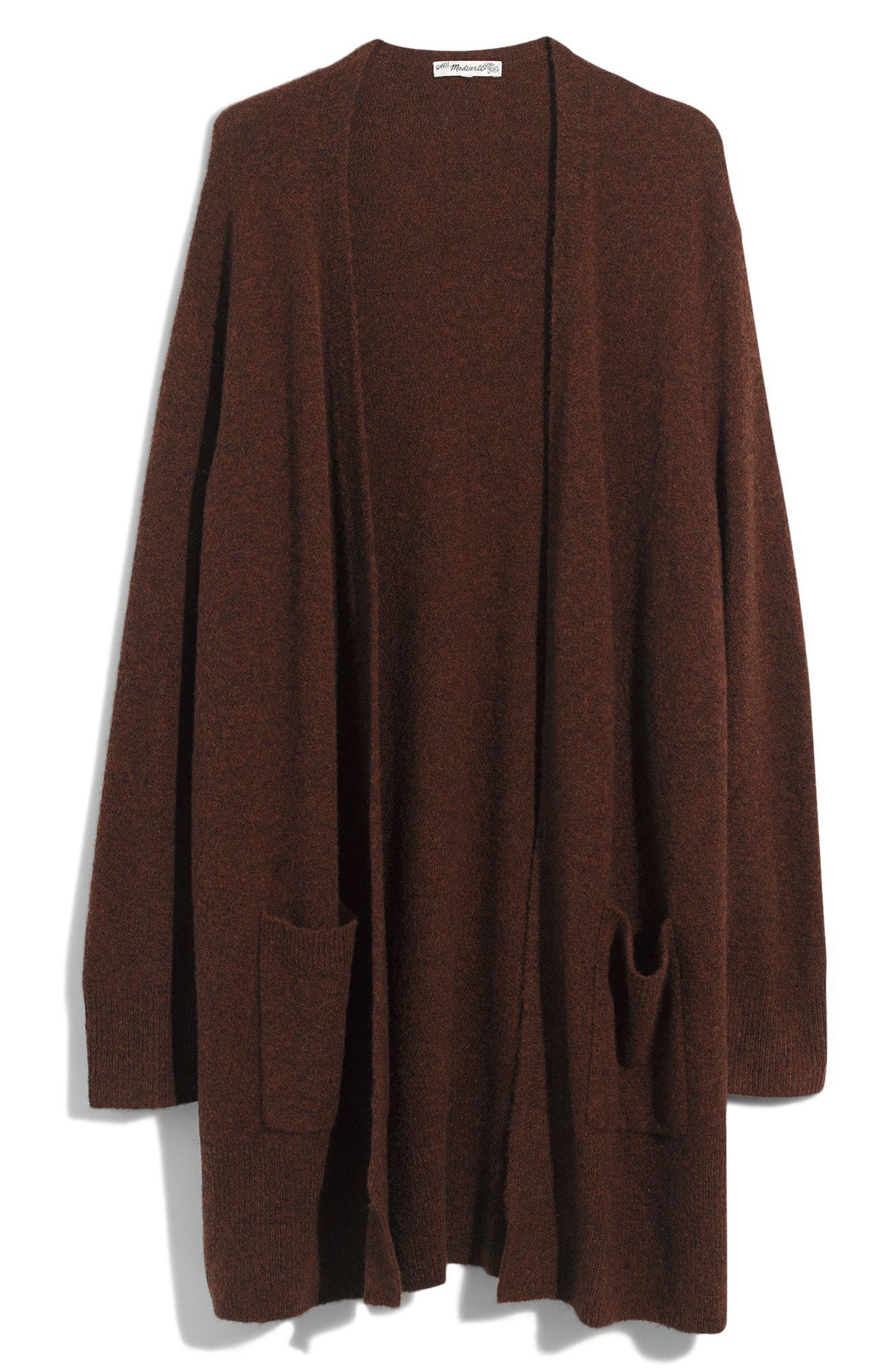 35f1684c753 Lyst - Madewell Kent Cardigan Sweater in Brown