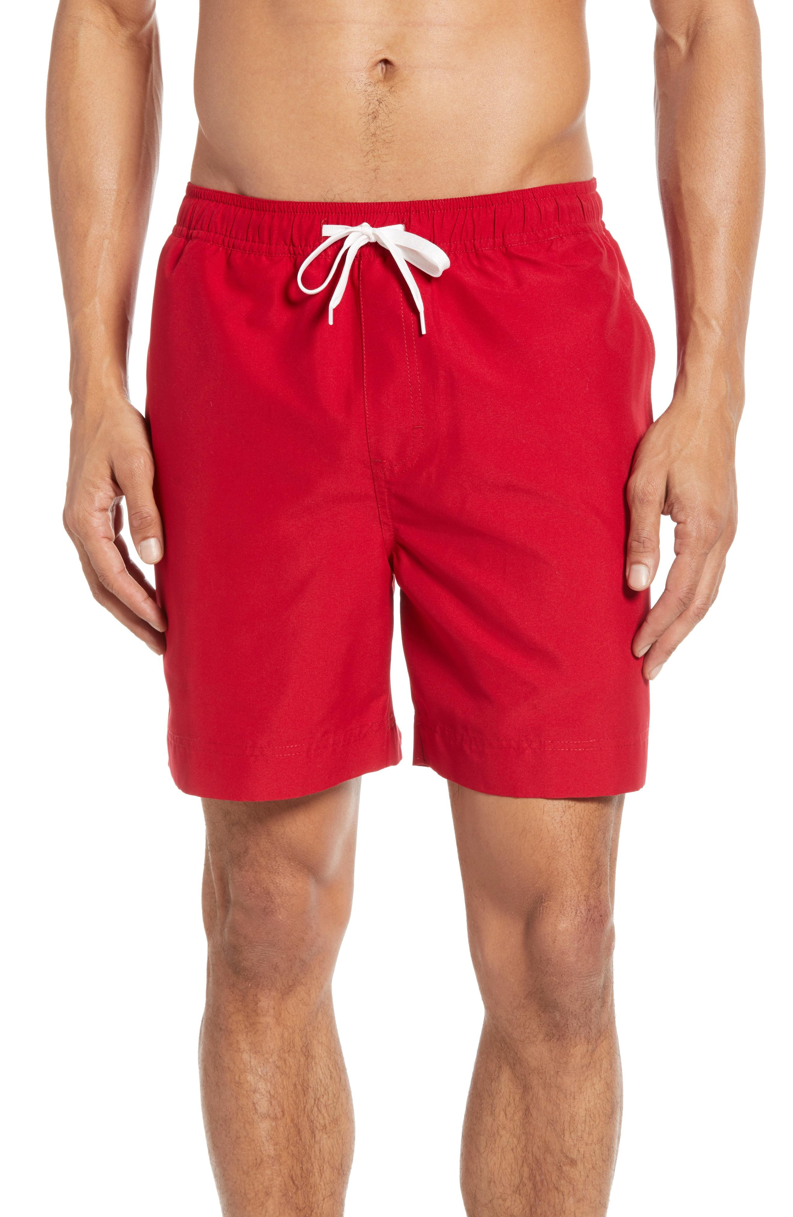 d99b028da6 Lyst - Nordstrom 1901 Solid Volley Swim Trunks in Red for Men