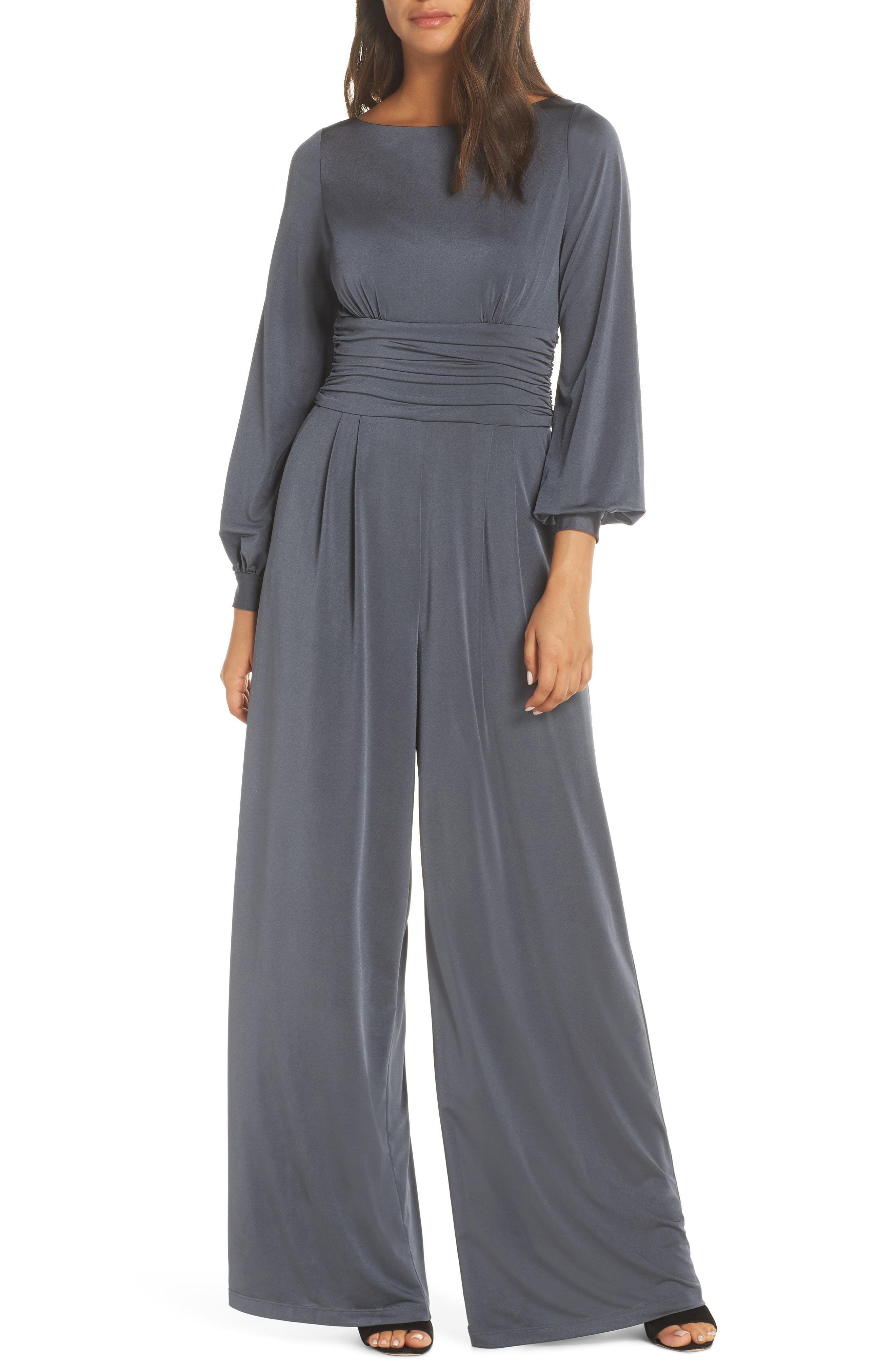 bbec966682c0 Eliza J Wide Leg Jumpsuit in Gray - Save 40% - Lyst