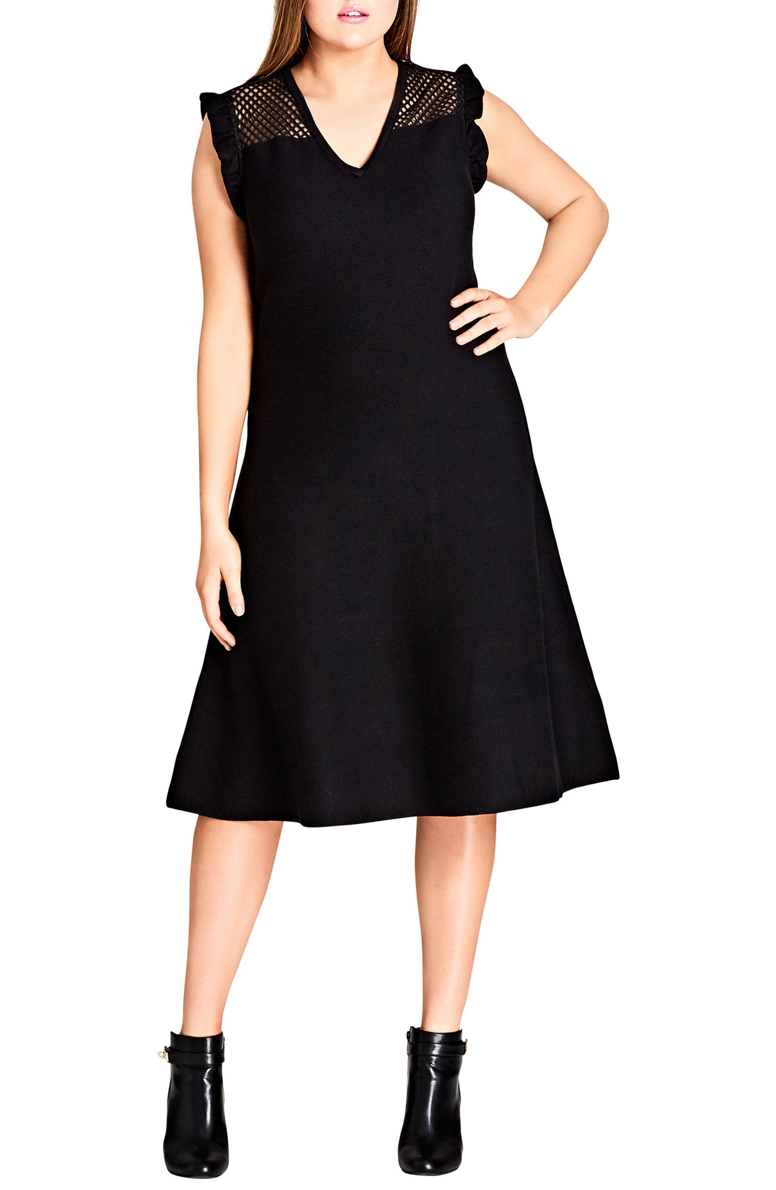c5e39889621b Lyst - City Chic Charmer Fit   Flare Midi Dress in Black