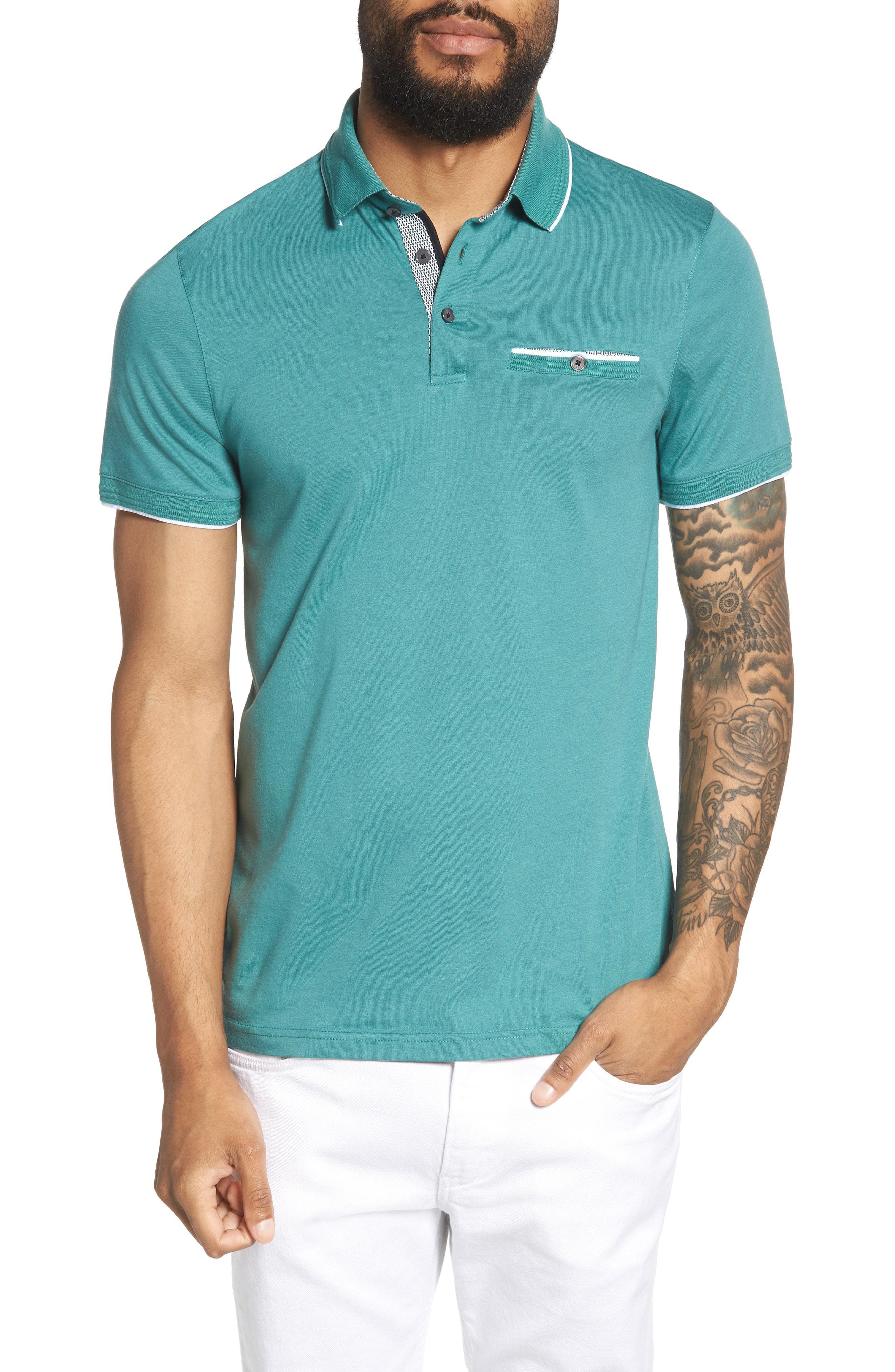 3cc996327e2370 Lyst - Ted Baker Derry Modern Slim Fit Polo in Blue for Men