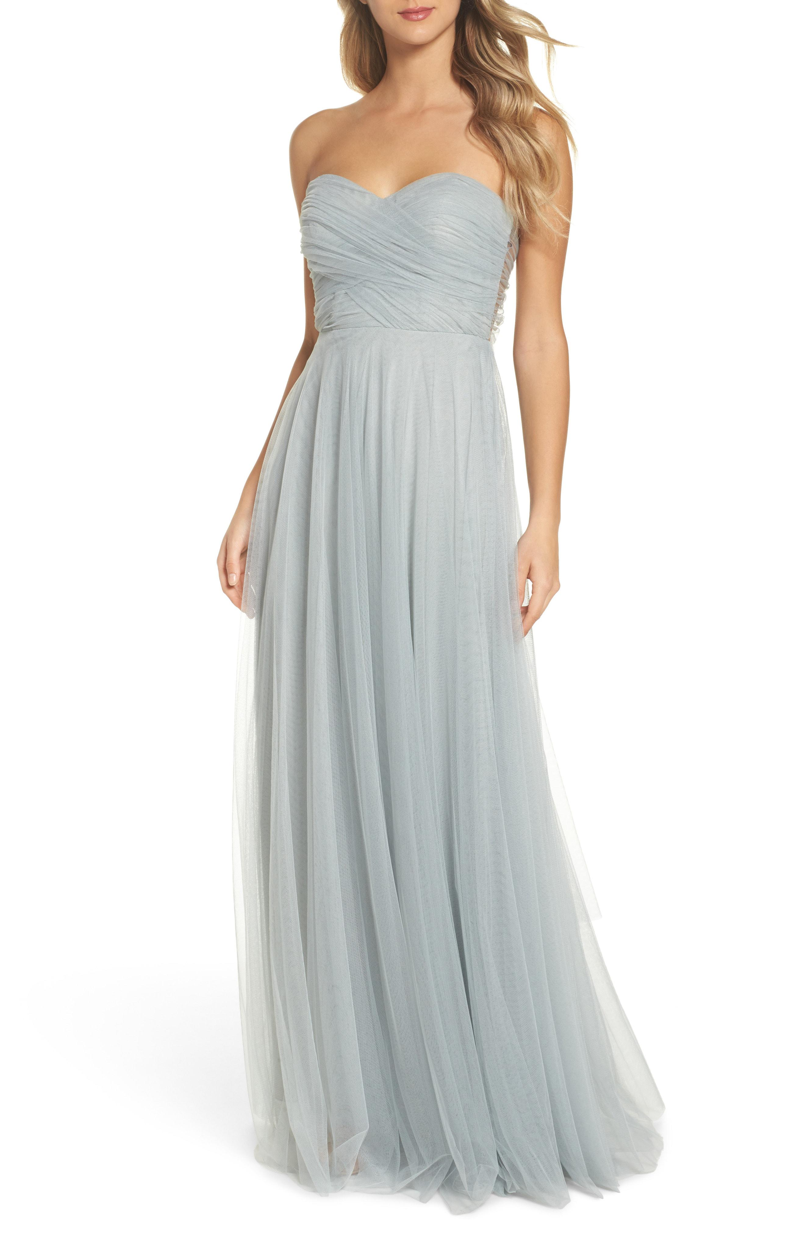 014c620d40d Lyst - Jenny Yoo Julia Convertible Soft Tulle Gown in Green