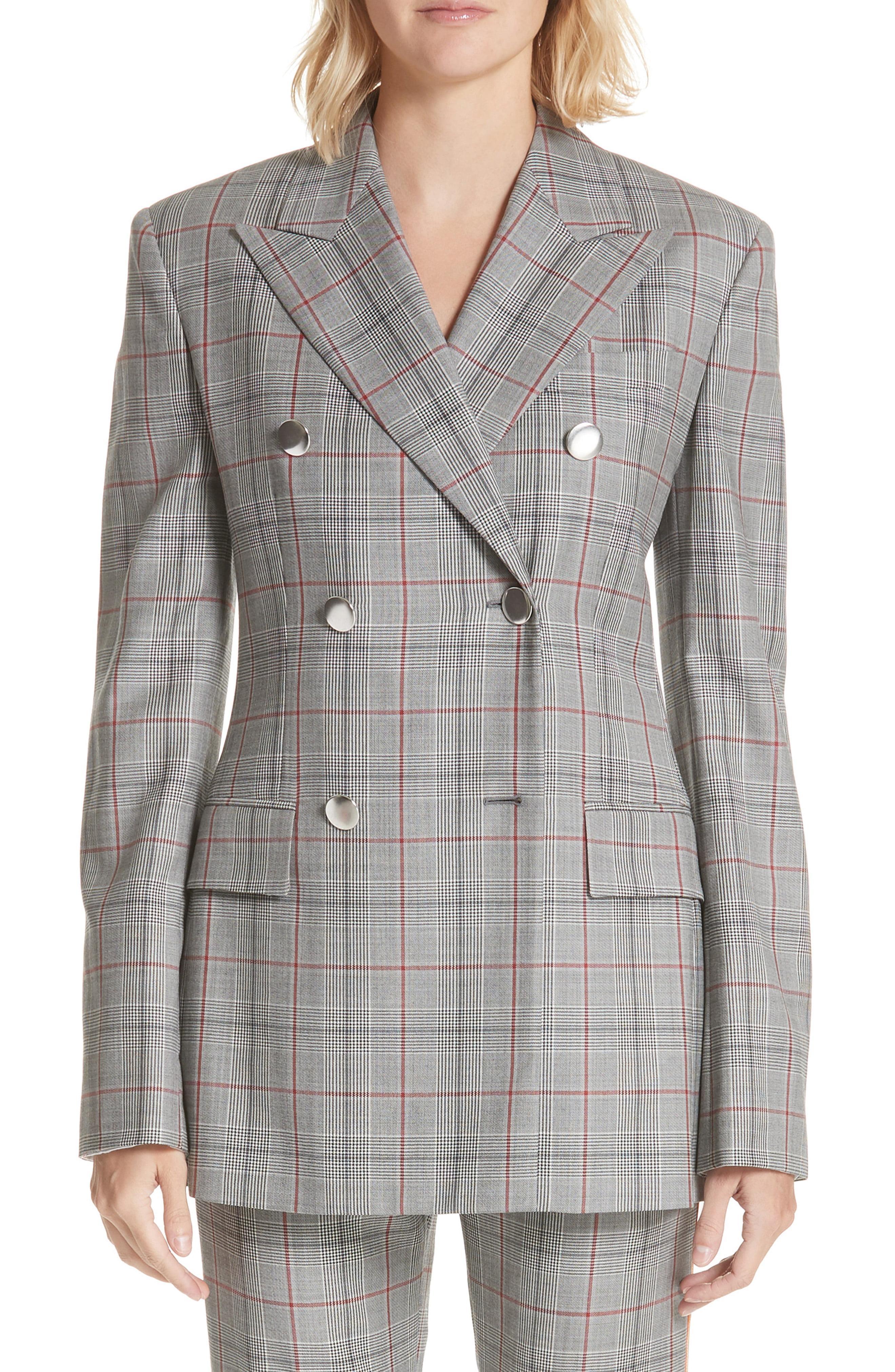 969390dd4a38 Lyst - CALVIN KLEIN 205W39NYC Plaid Wool Jacket in Gray