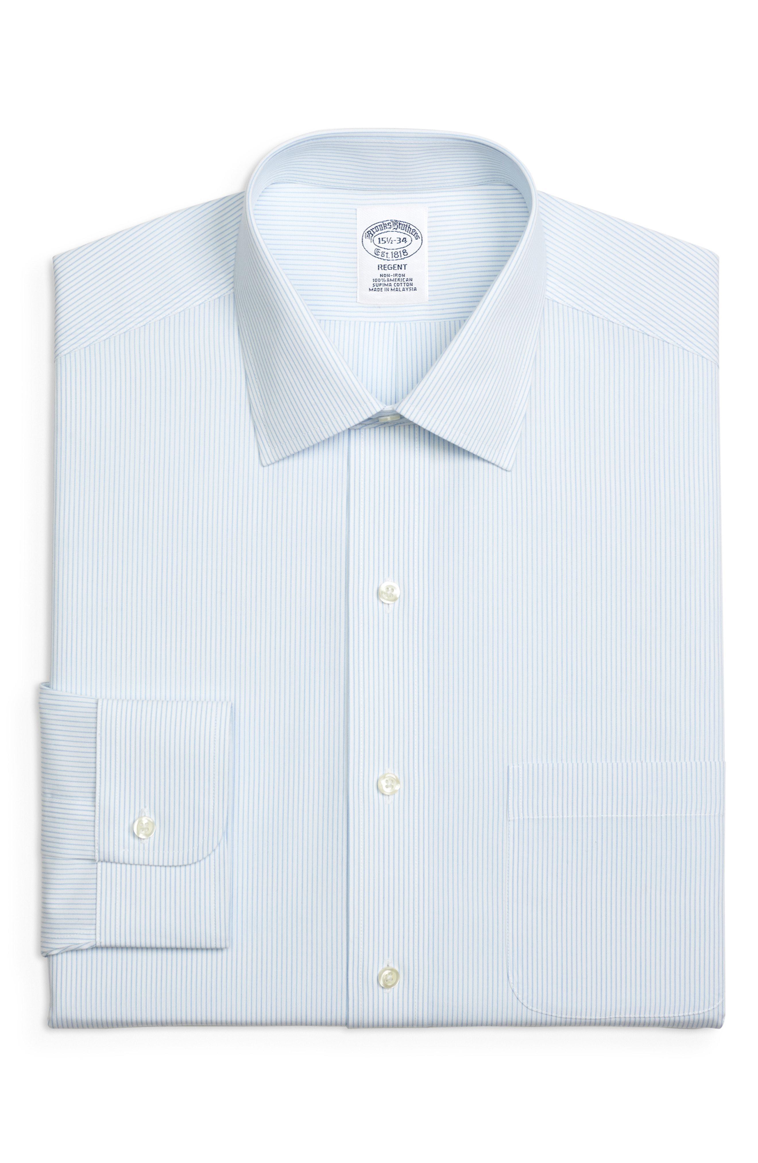 6692fd3c1c96 Lyst - Brooks Brothers Regular Fit Stripe Dress Shirt (3 For  207 ...