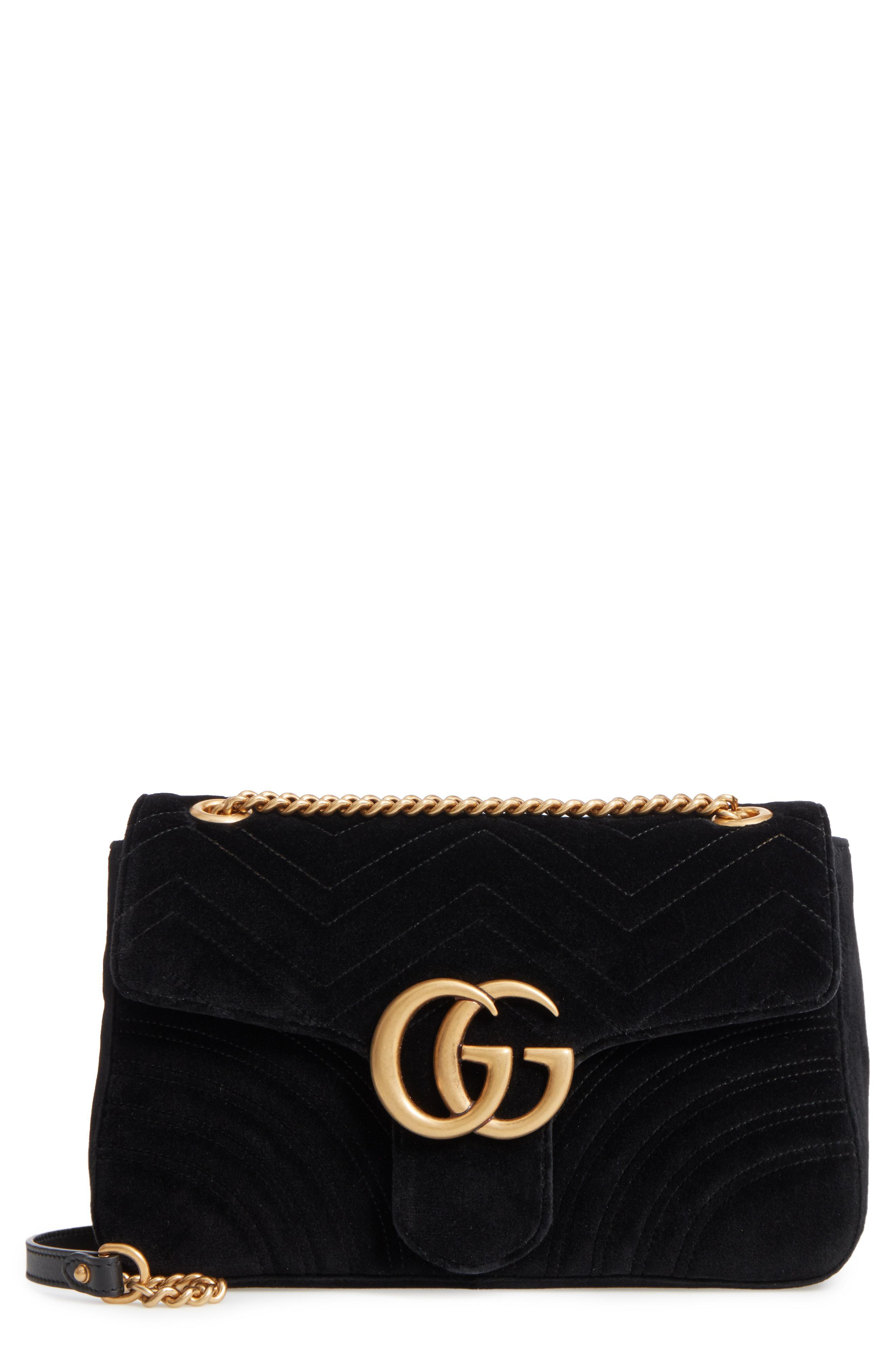 aff157994ea Gucci. Women s Purple Medium Gg Marmont 2.0 Matelasse Velvet Shoulder Bag -