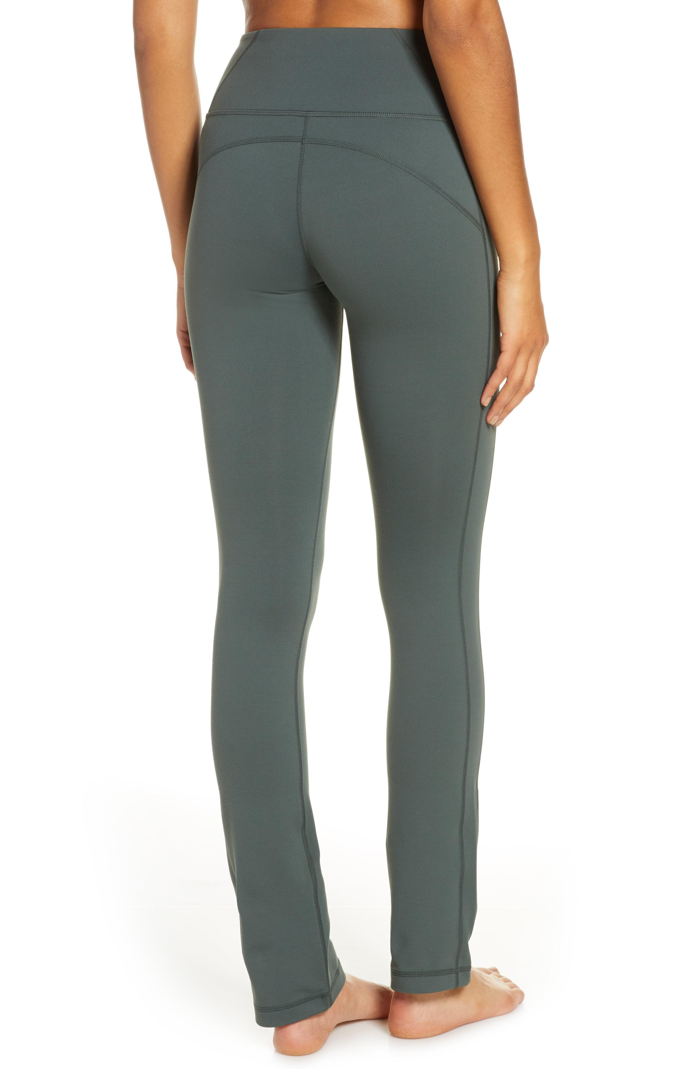 5c312259b0 Zella - Green 'plank' Straight Leg Yoga Pants - Lyst. View fullscreen