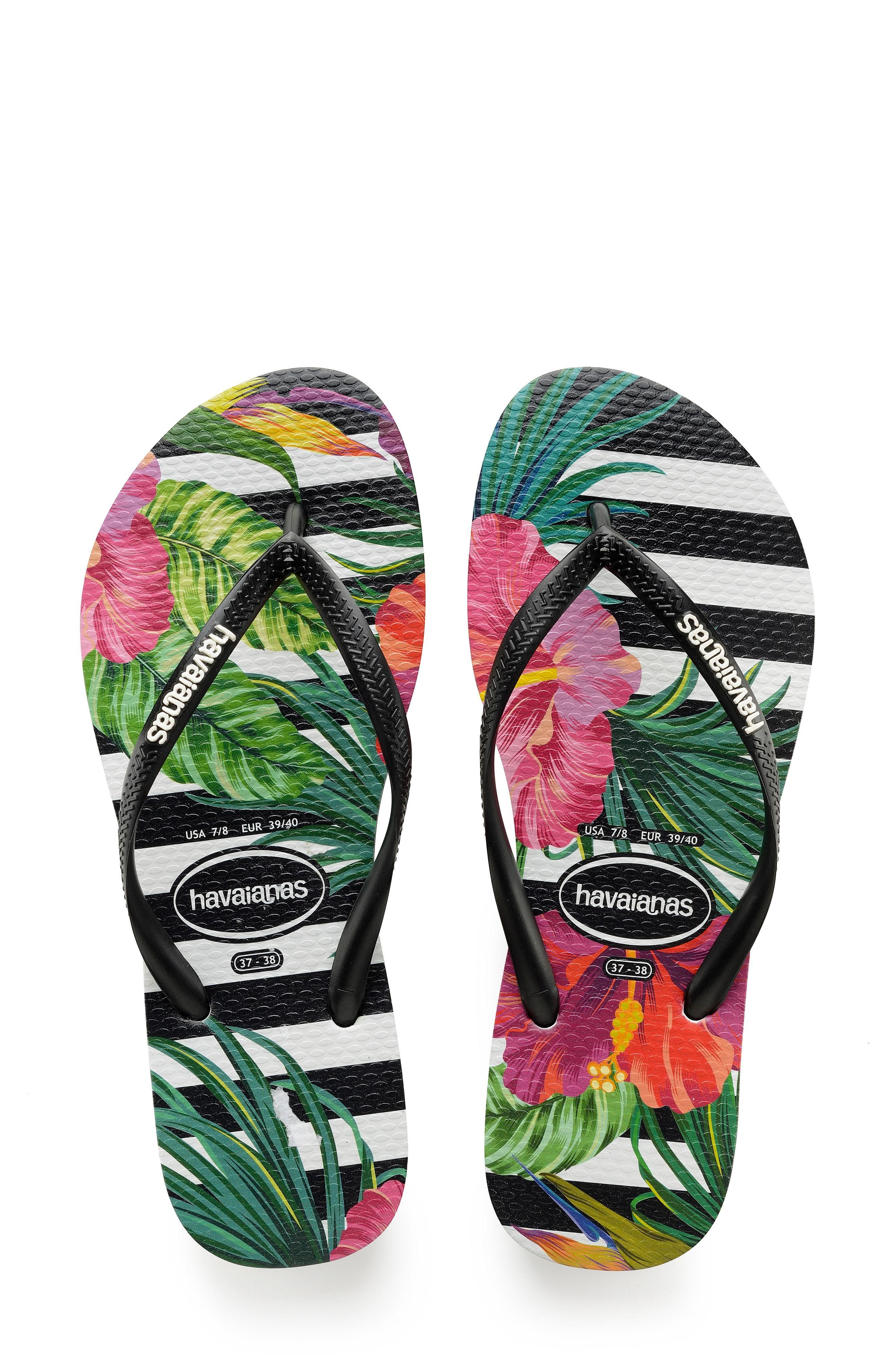 4e2dd886385 Lyst - Havaianas Slim Tropical Floral Flip Flop in Green