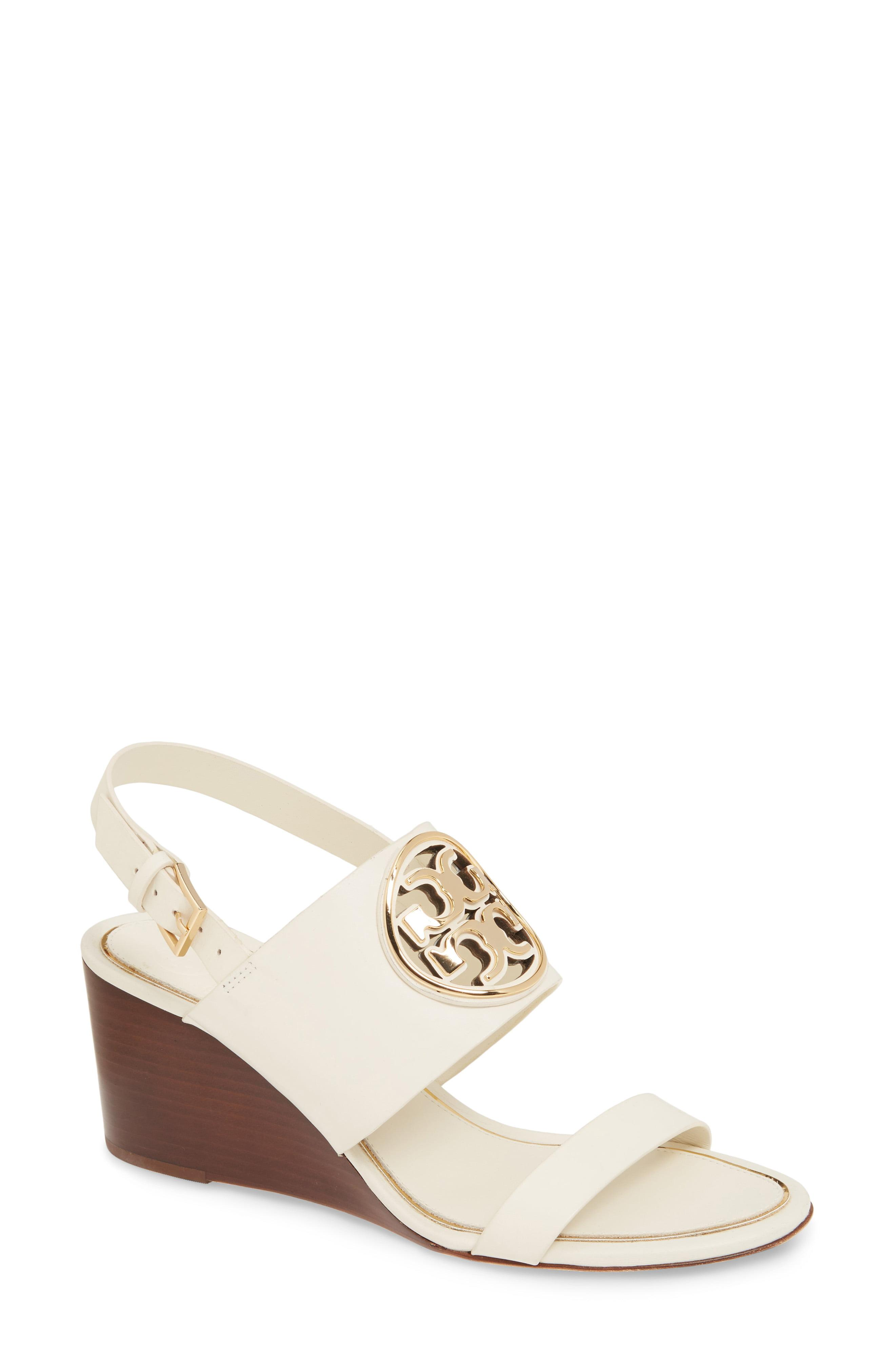9dcbd6cfd46a Lyst - Tory Burch Miller Wedge Sandal in Black