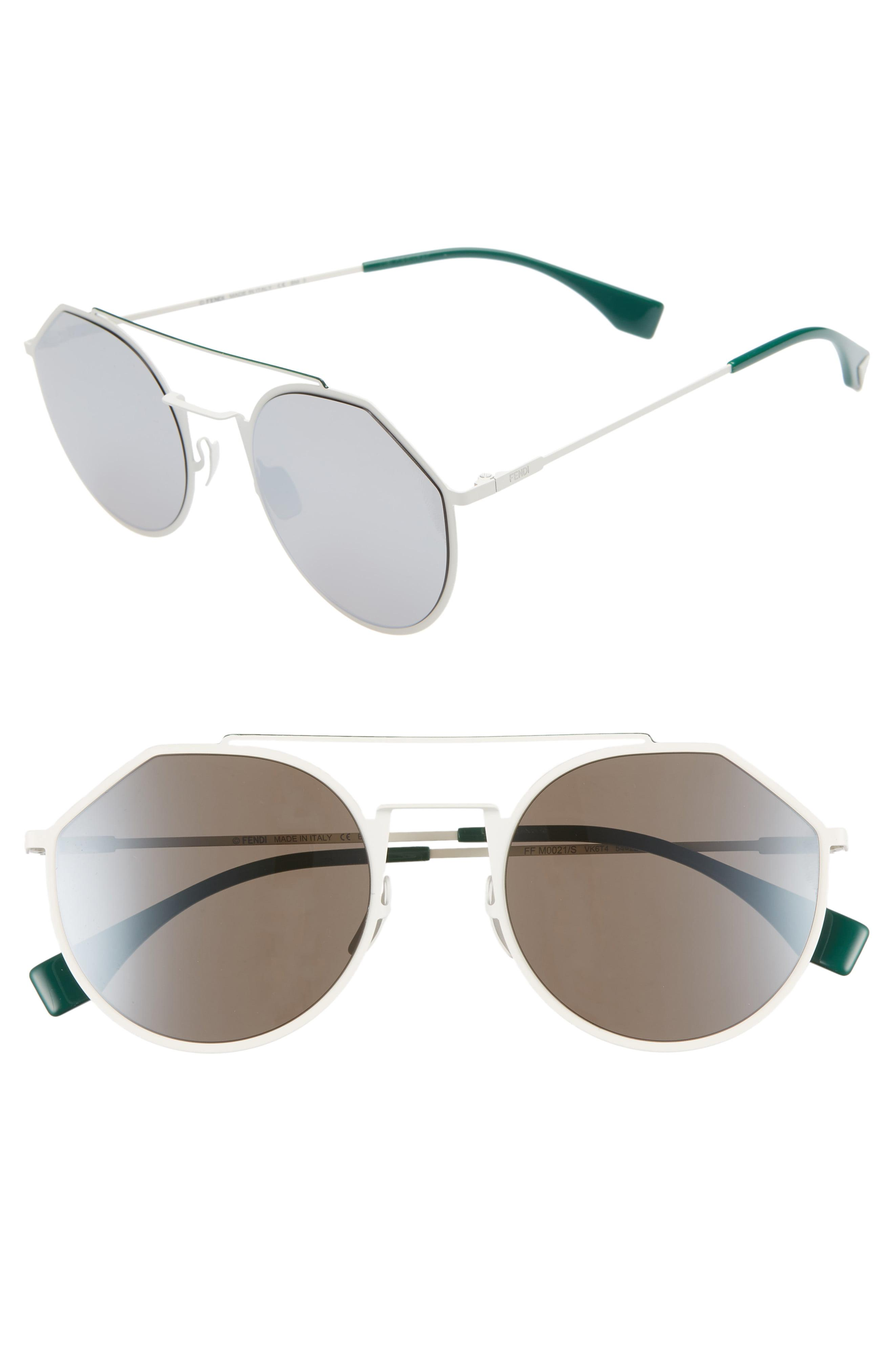 87f6f5b0c57 Lyst - Fendi 54mm Round Sunglasses - for Men
