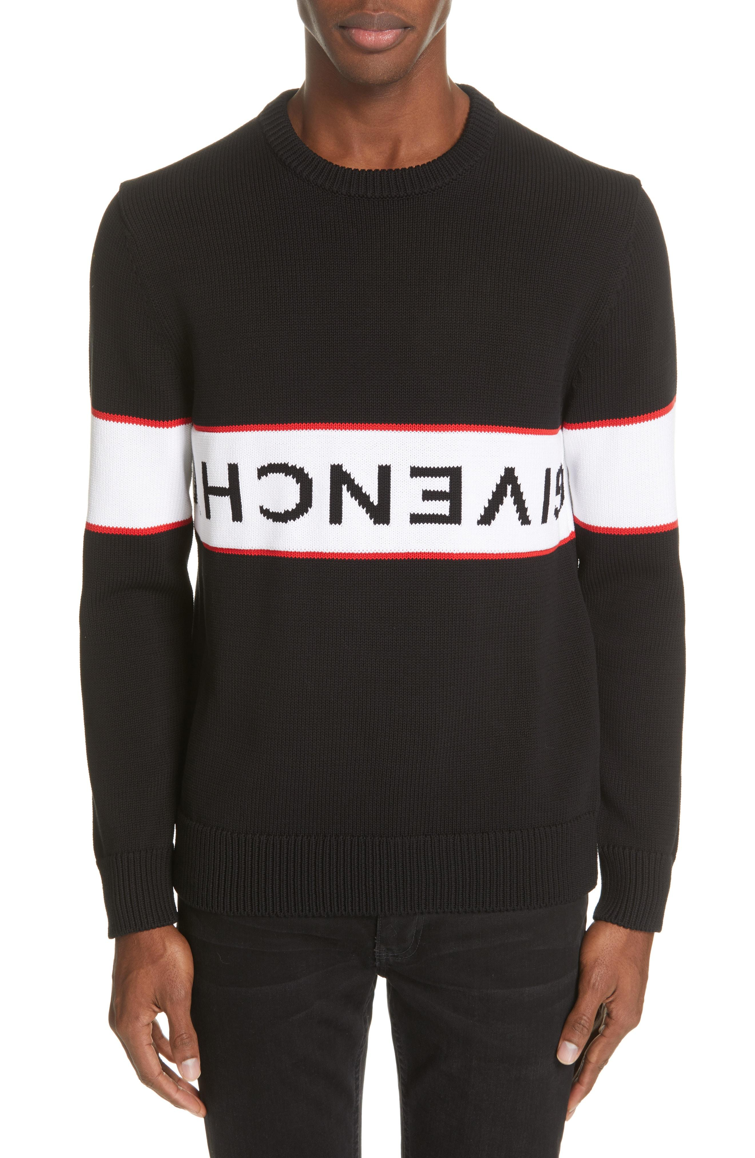 Down Lyst Givenchy For Men Black Sweater In Logo Upside qWZPwBxT4