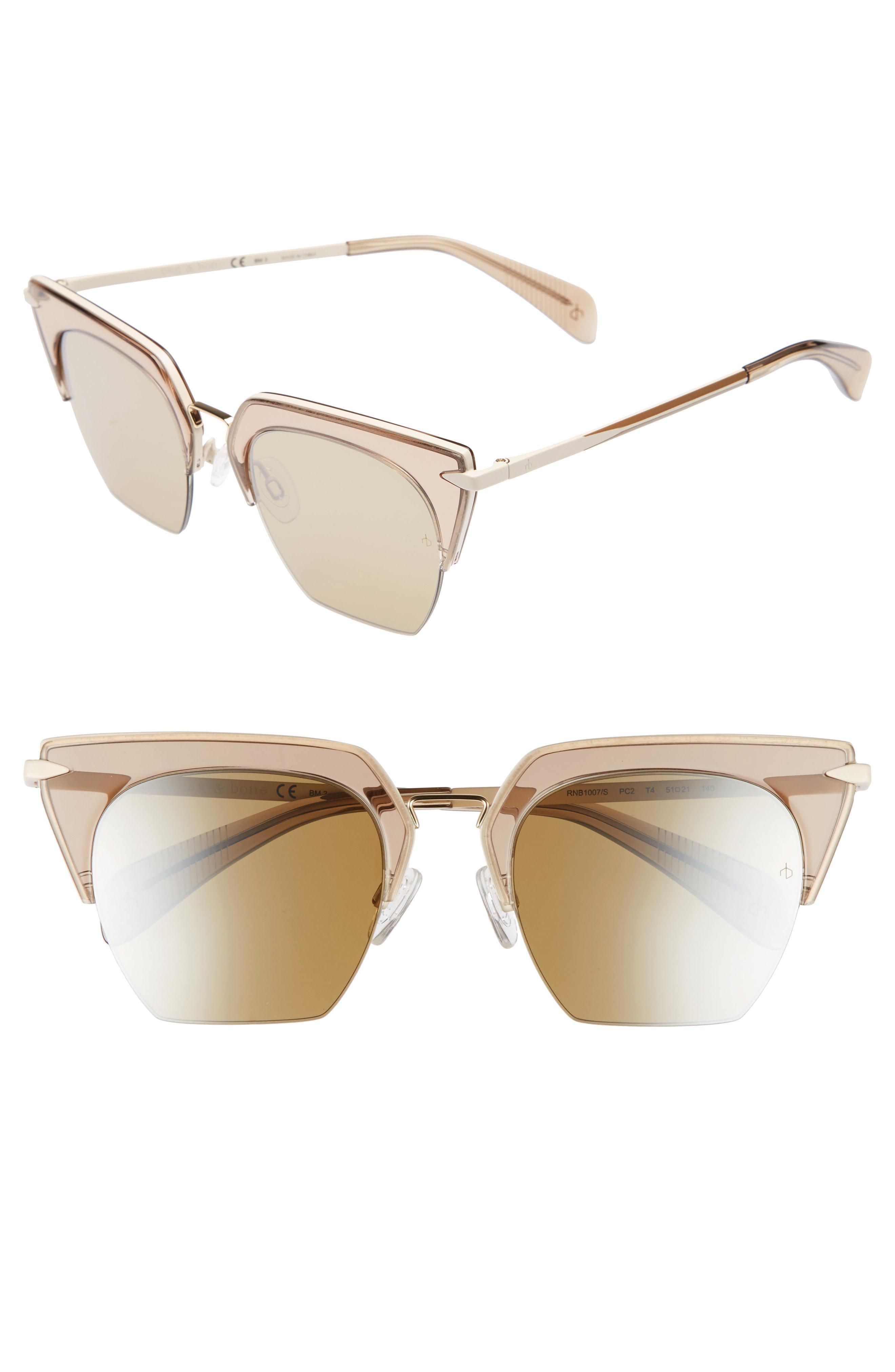 ee6b71650a59d Rag   Bone. Women s 51mm Cat Eye Sunglasses -