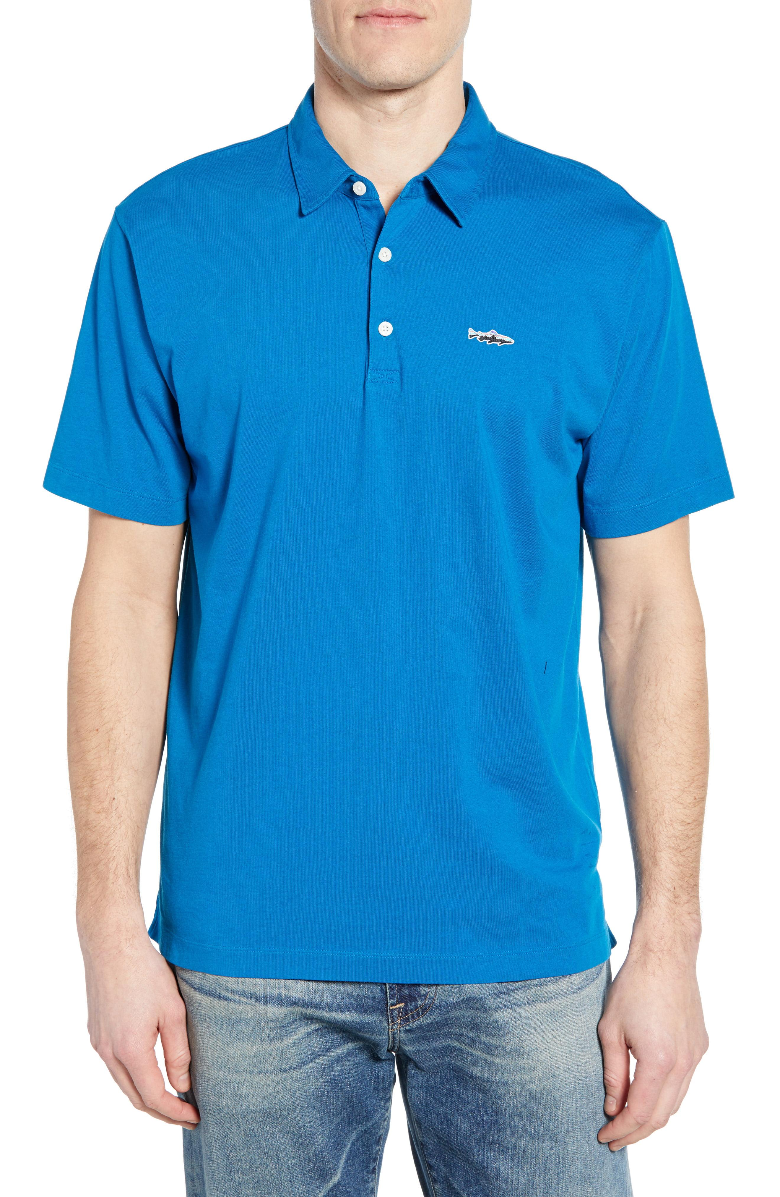 2c398aaa Lyst - Patagonia 'trout Fitz Roy' Organic Cotton Polo in Blue for Men