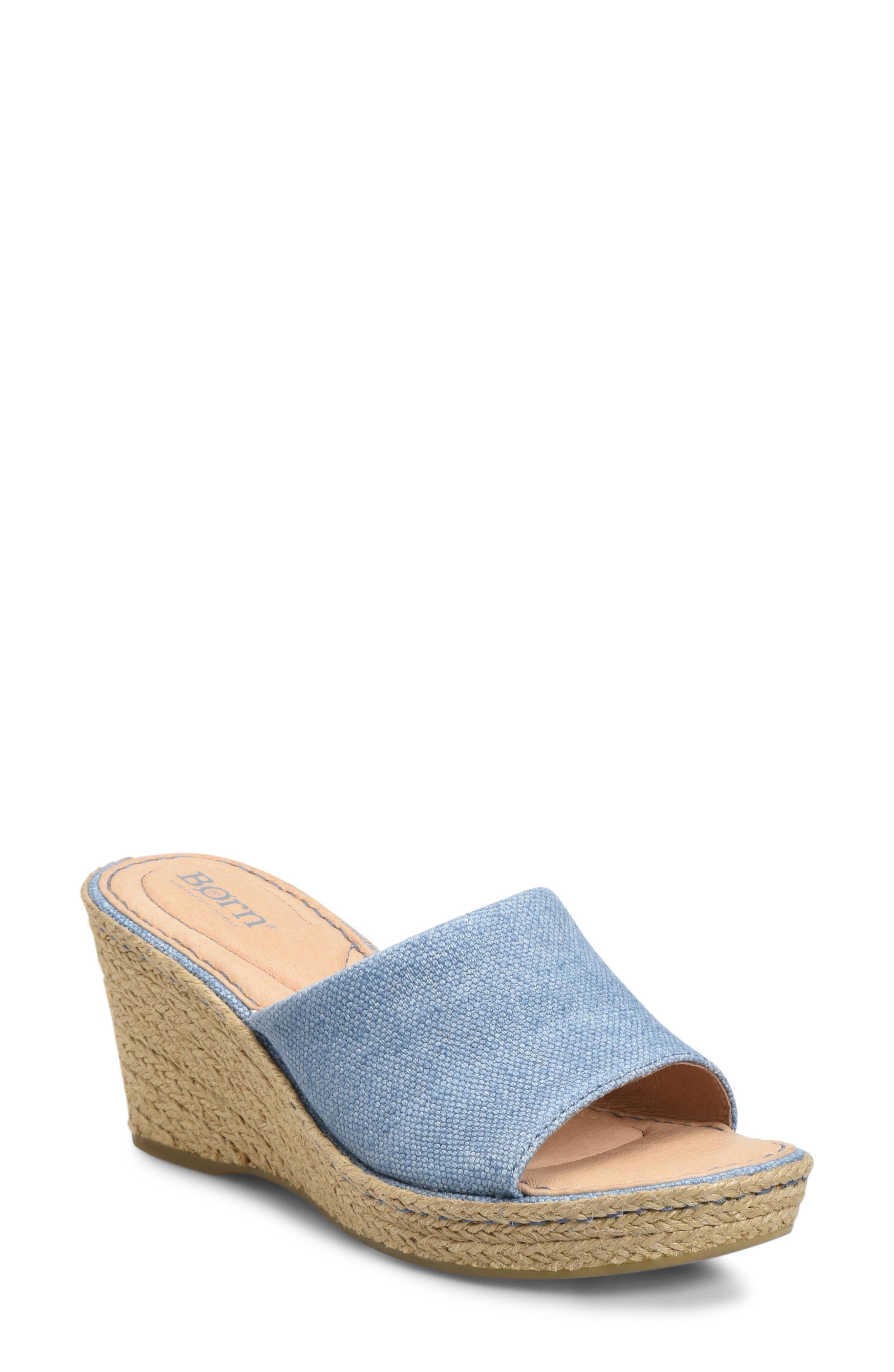 14d7b892c29 Lyst - Born Missoula (black Fabric) Women s Wedge Shoes in Blue ...
