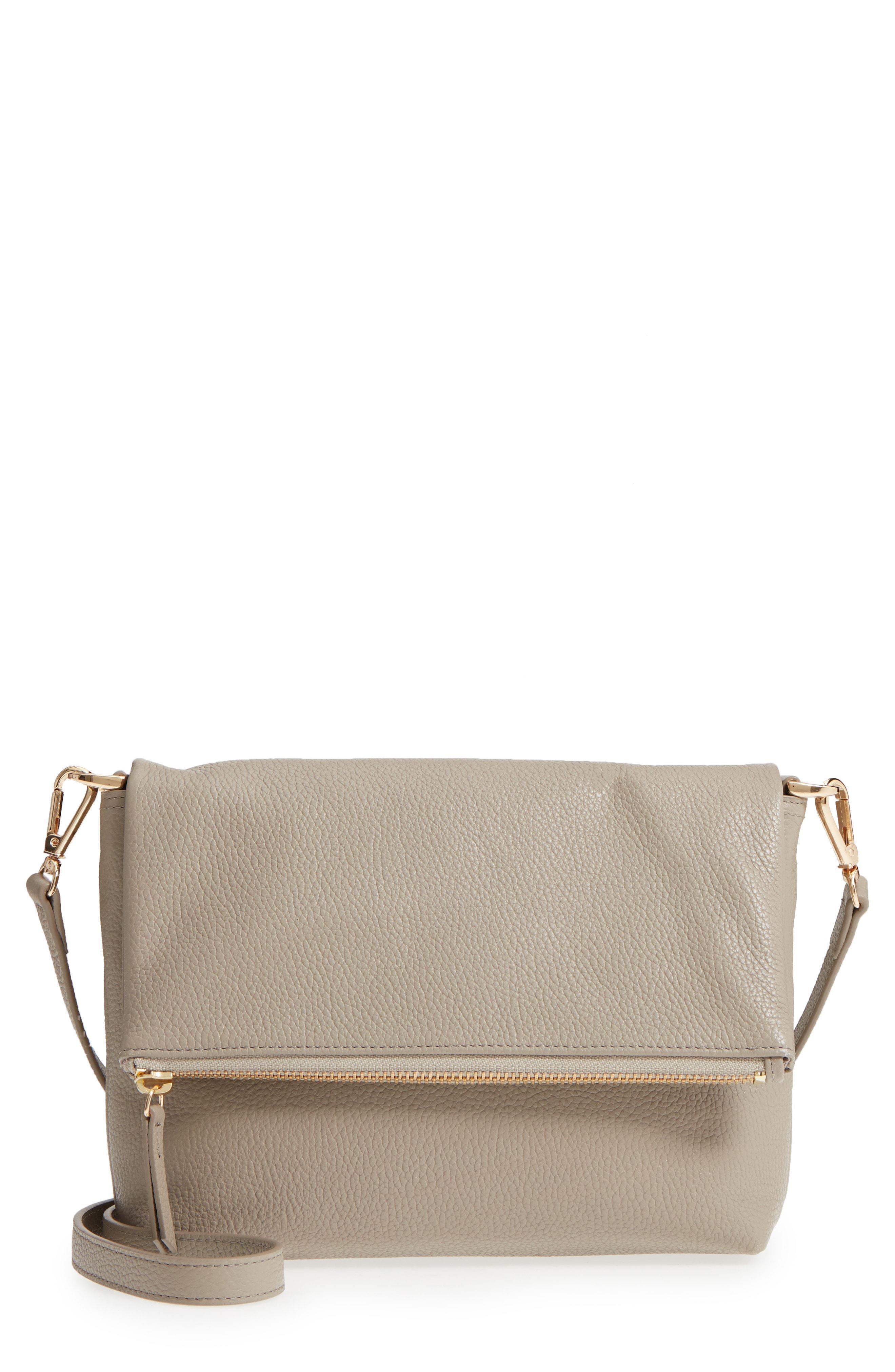 9ef596b0d8e5 Nordstrom Ava Foldover Crossbody Bag in Gray - Lyst