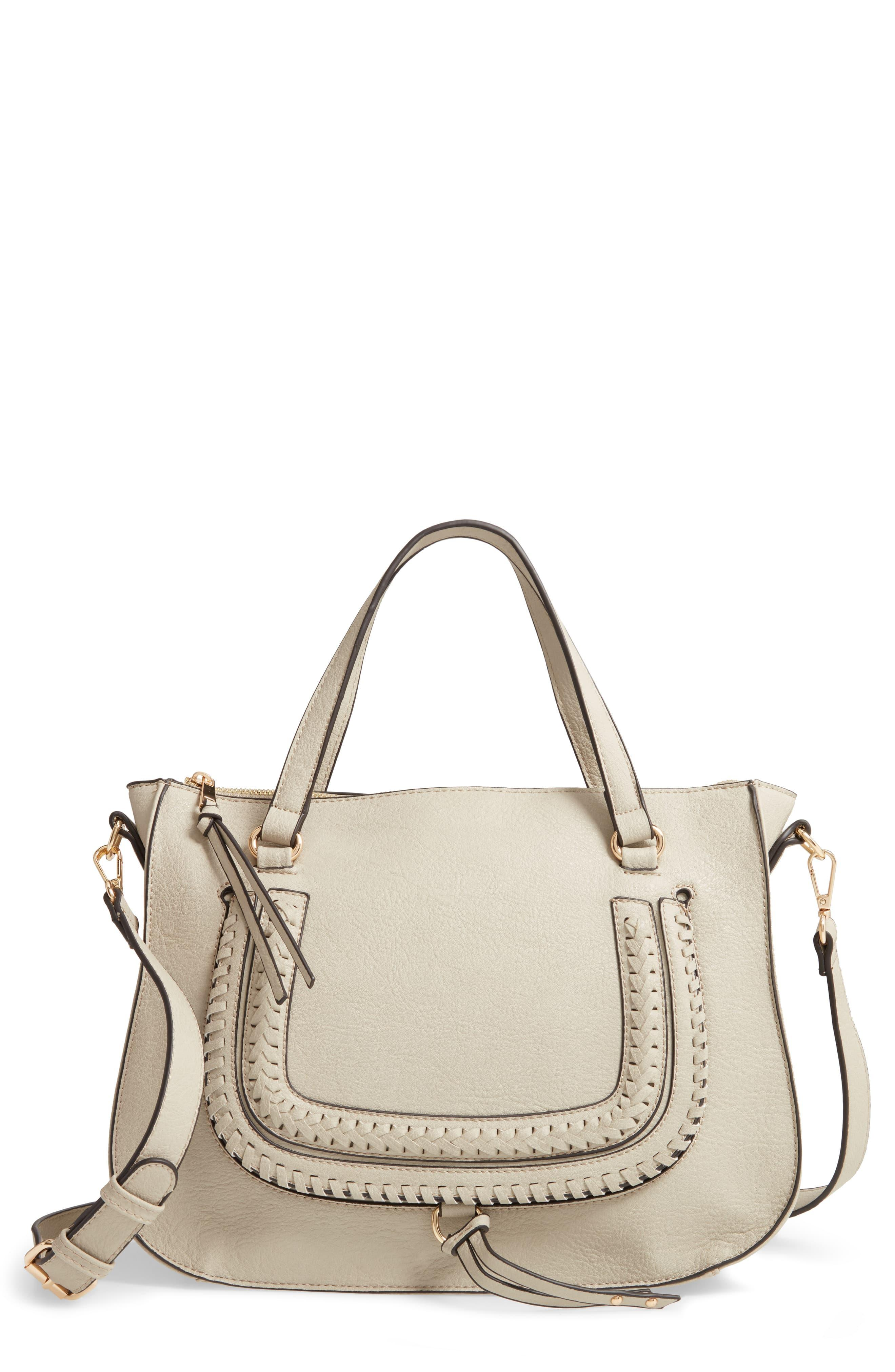 b9585f9d56 Sole Society Destin Faux Leather Satchel - in Natural - Lyst