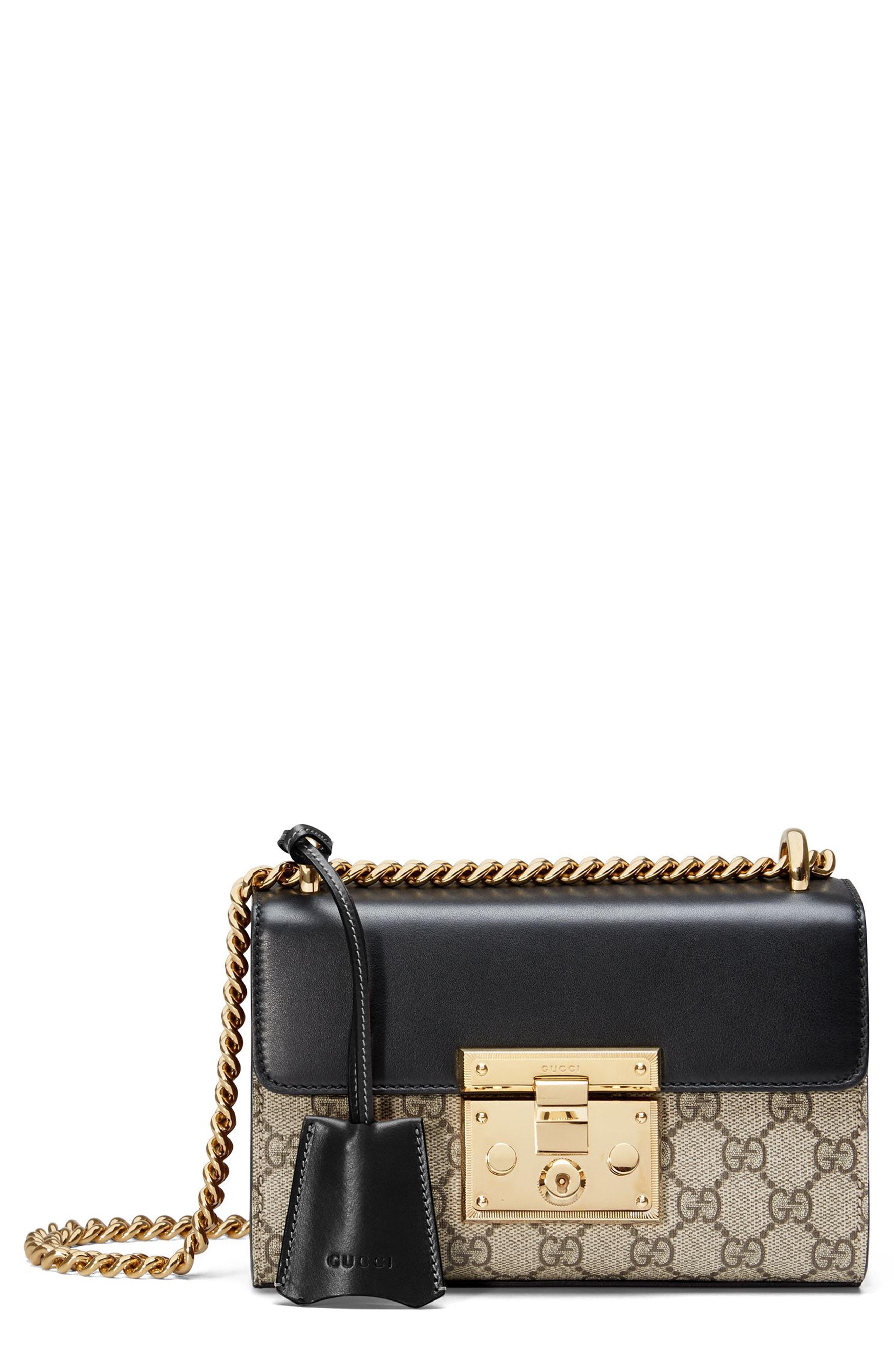 24b45dde0 Gucci - Black Small Padlock Gg Supreme Canvas & Leather Shoulder Bag -  Lyst. View fullscreen