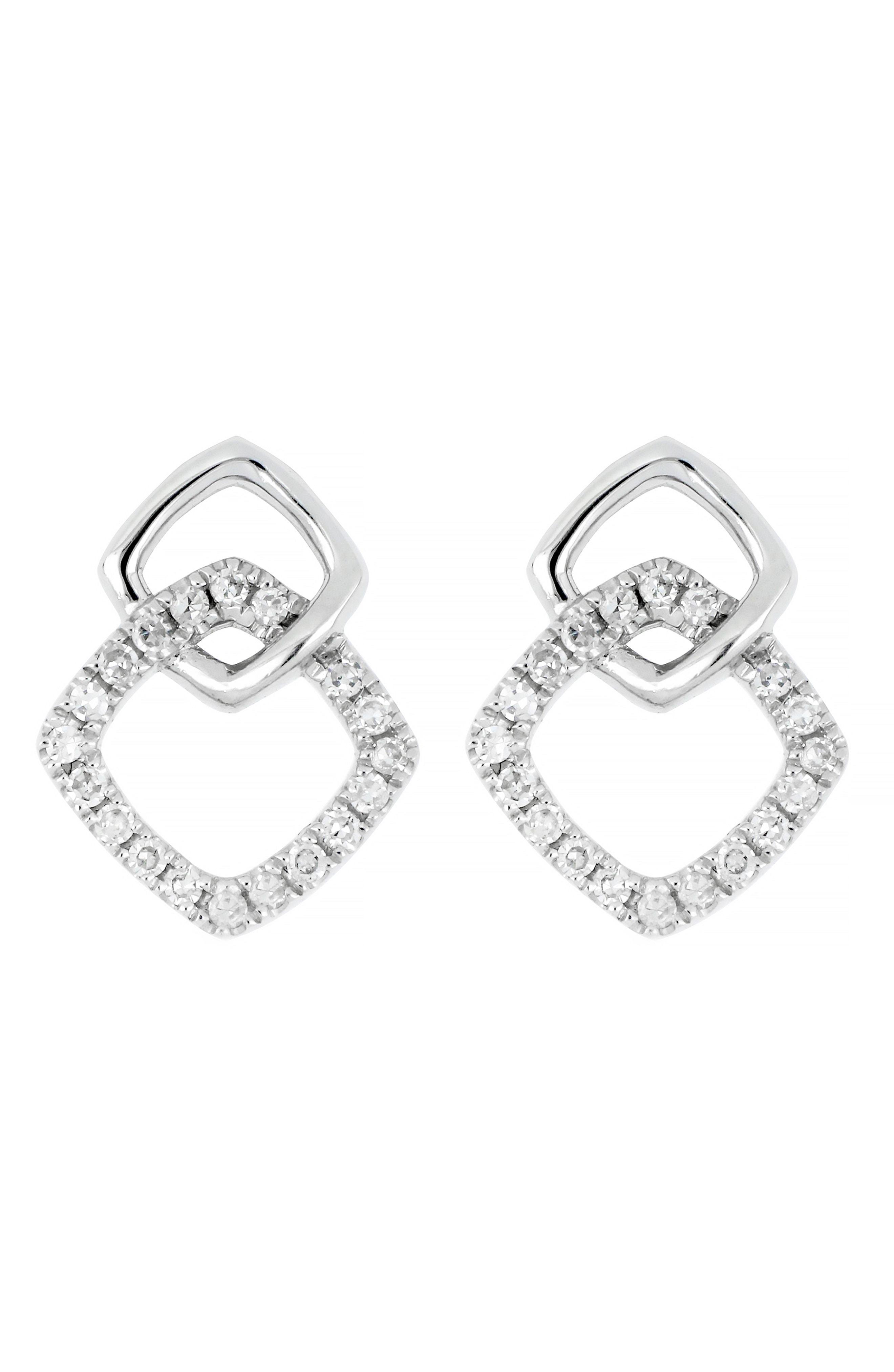 7c8ead2cd CARRIERE JEWELRY. Women's Metallic Carriere Double Square Earrings ...