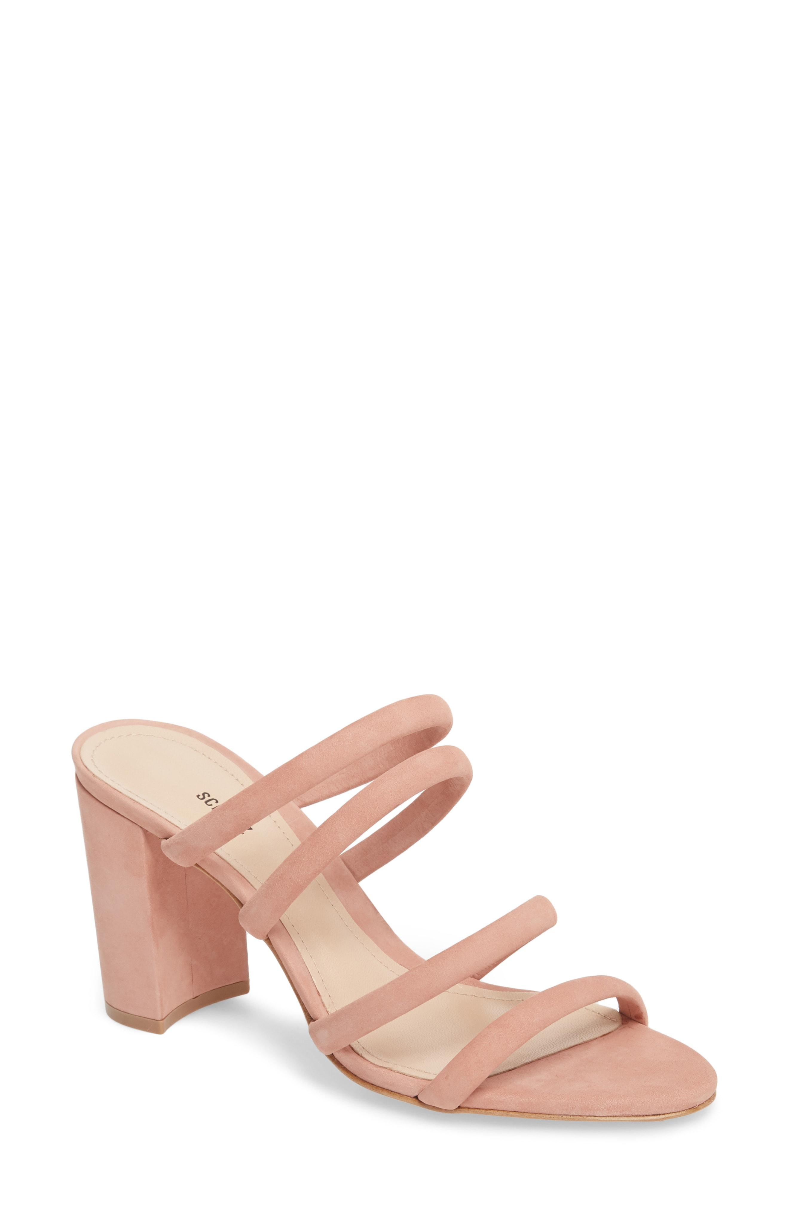 cf9f2a95018c Lyst - Schutz Felisa Block Heel Sandal in Pink