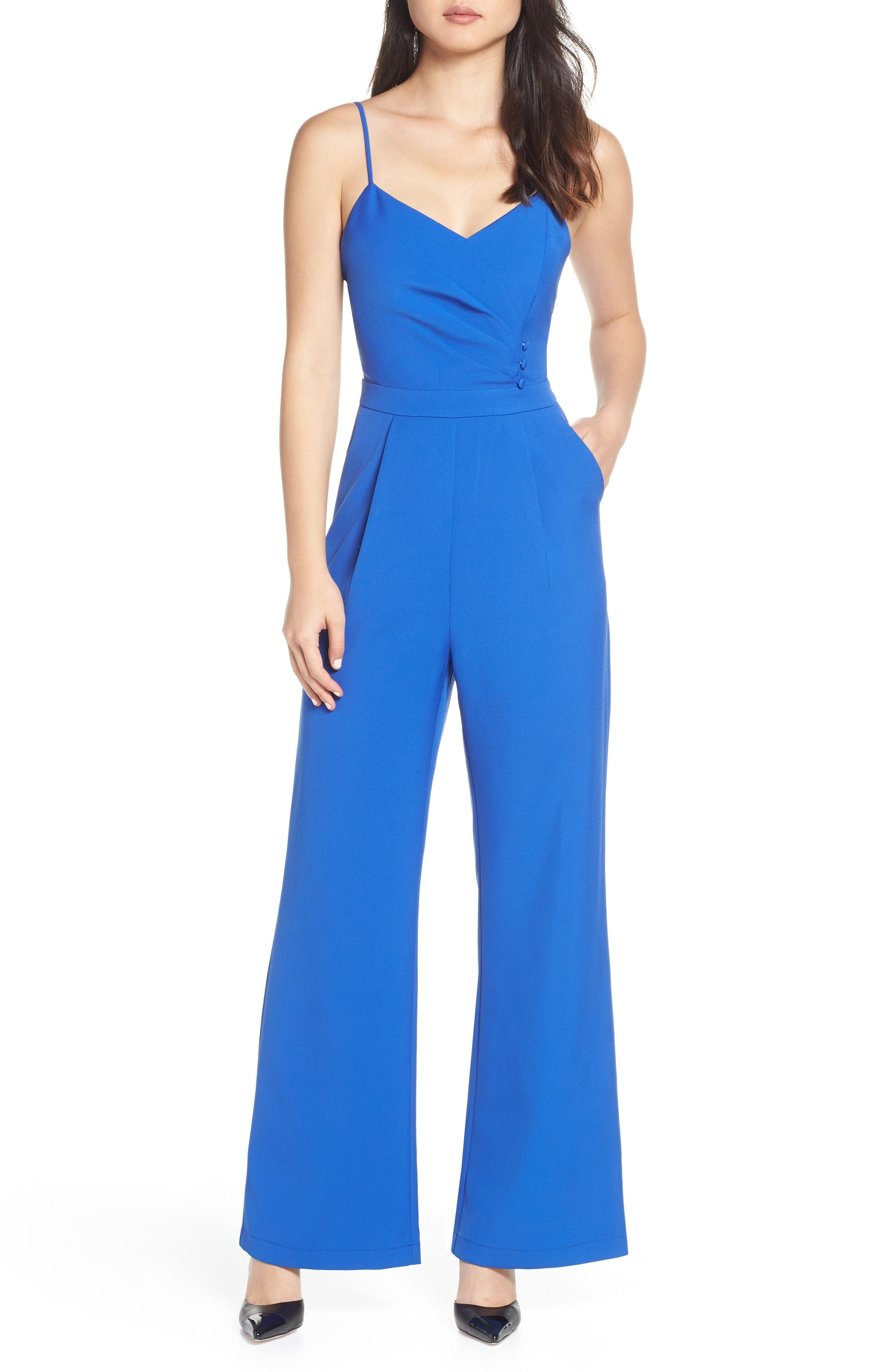 94f55f5b970 Lyst - Adelyn Rae Tierney Sleeveless Pleated Jumpsuit in Blue
