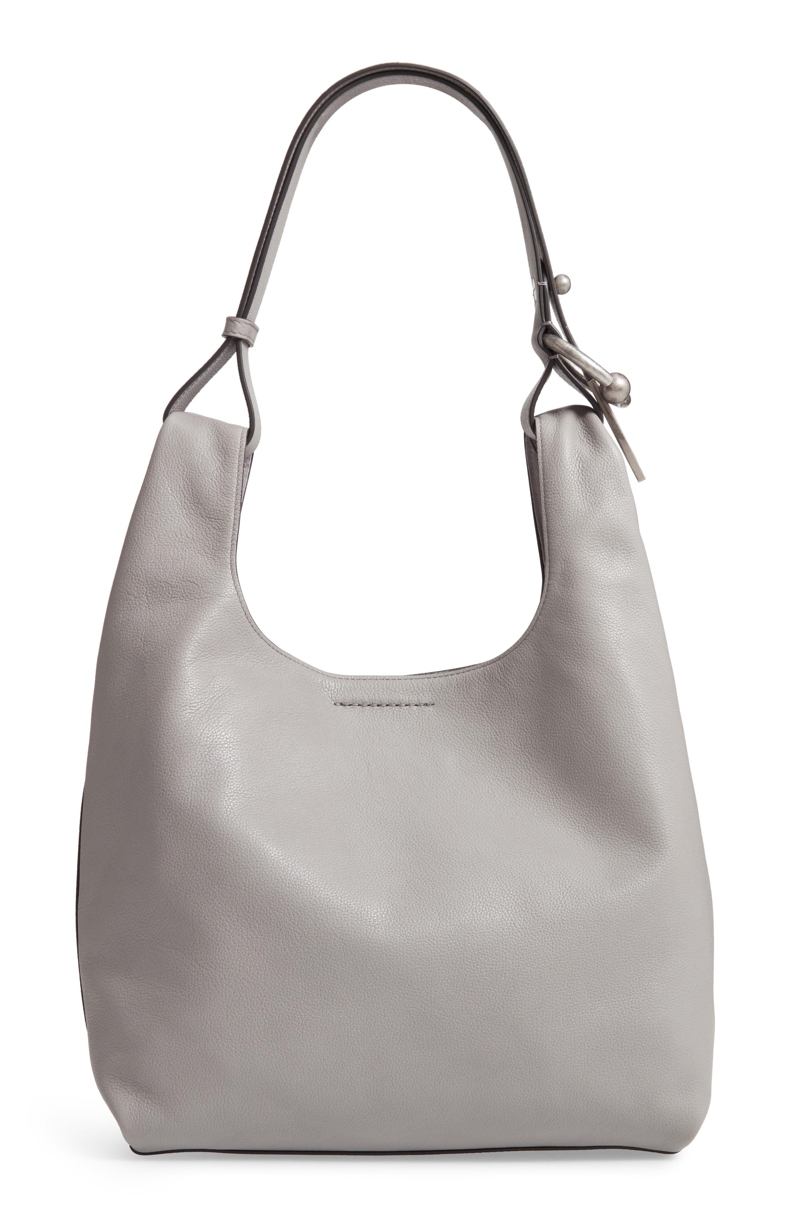 6c01ca427f9 Lyst - Rebecca Minkoff Karlie Medium Leather Hobo in Gray